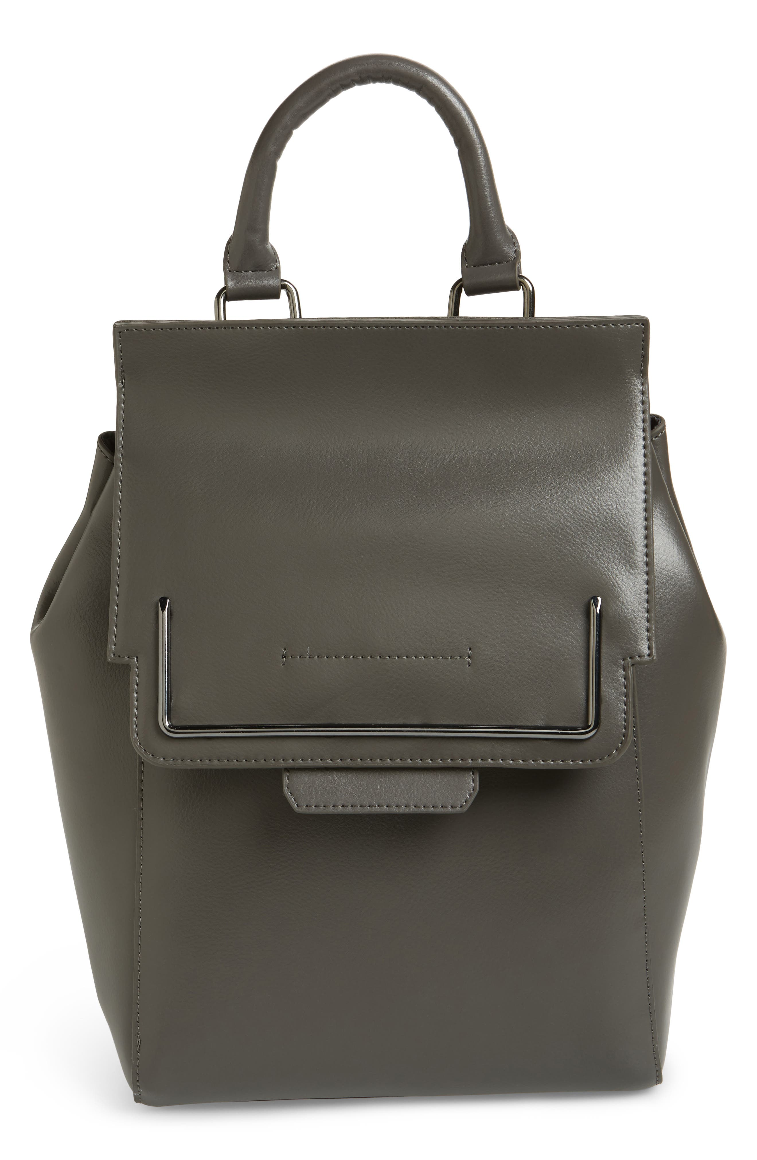Danielle Nicole DYLAN LEATHER BACKPACK - GREY