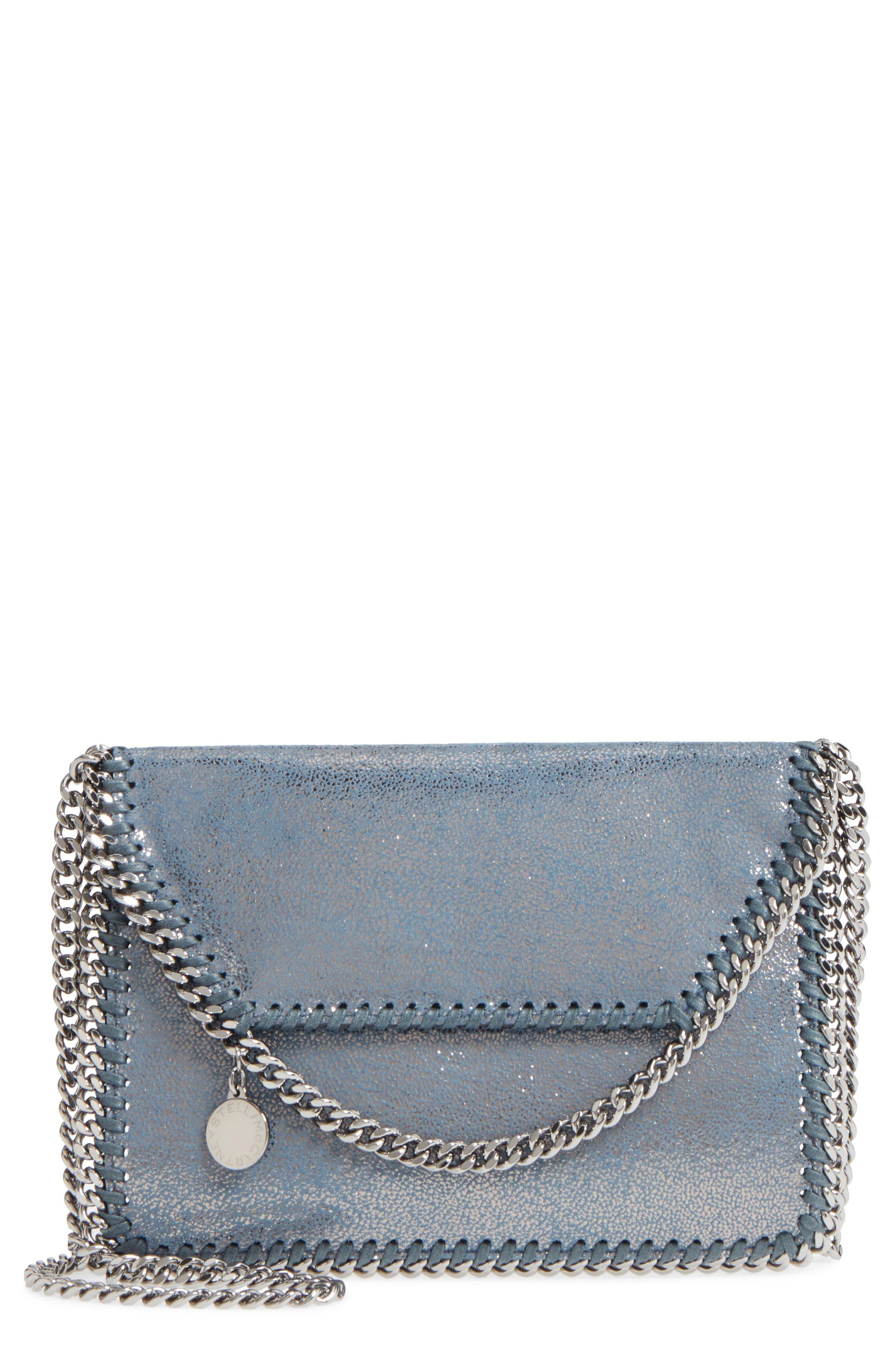 Alternate Image 1 Selected - Stella McCartney Metallic Faux Leather Crossbody Bag