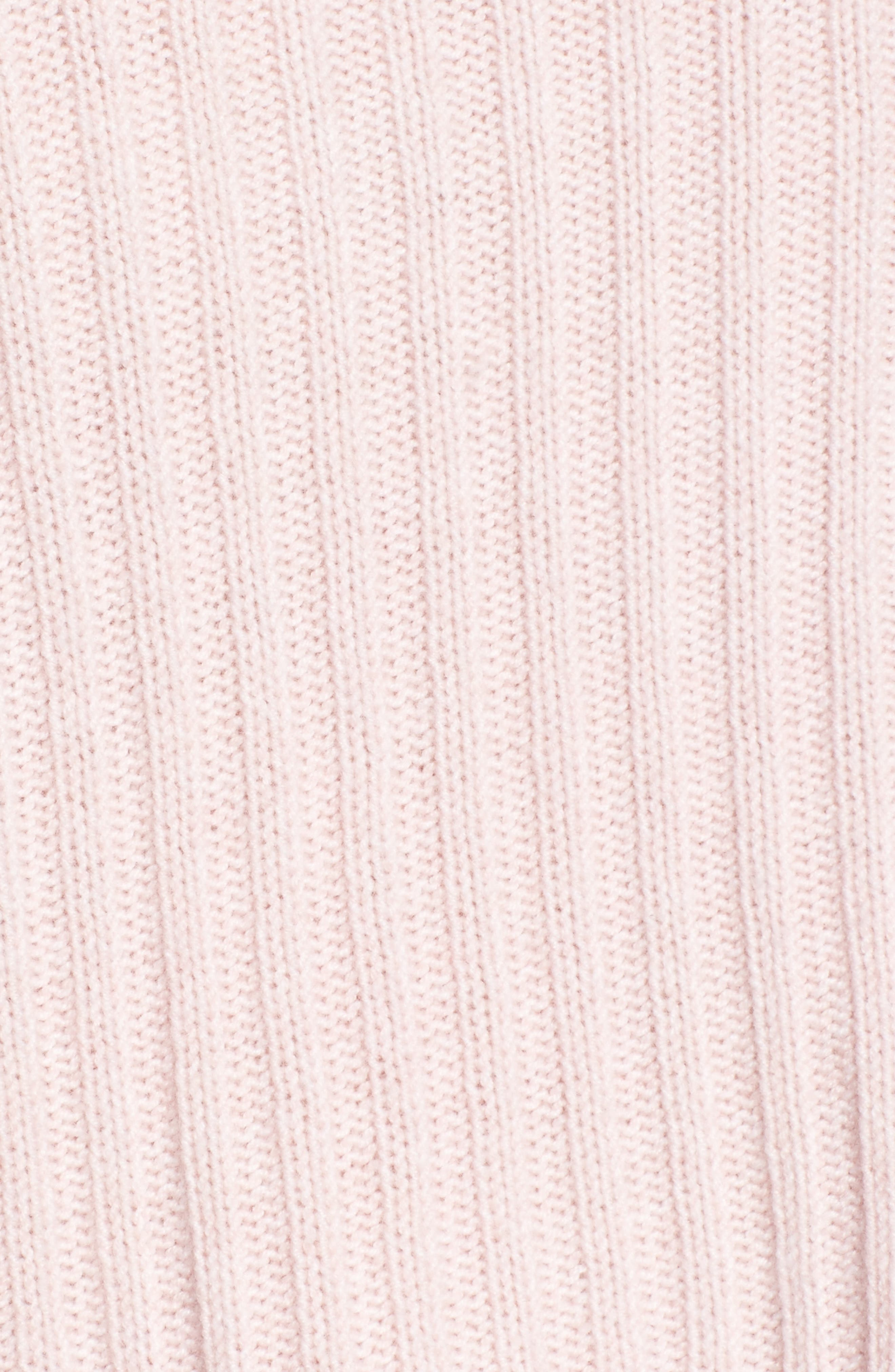 Joelle Rib Wool & Cashmere Sweater,                             Alternate thumbnail 5, color,                             Petal Melange