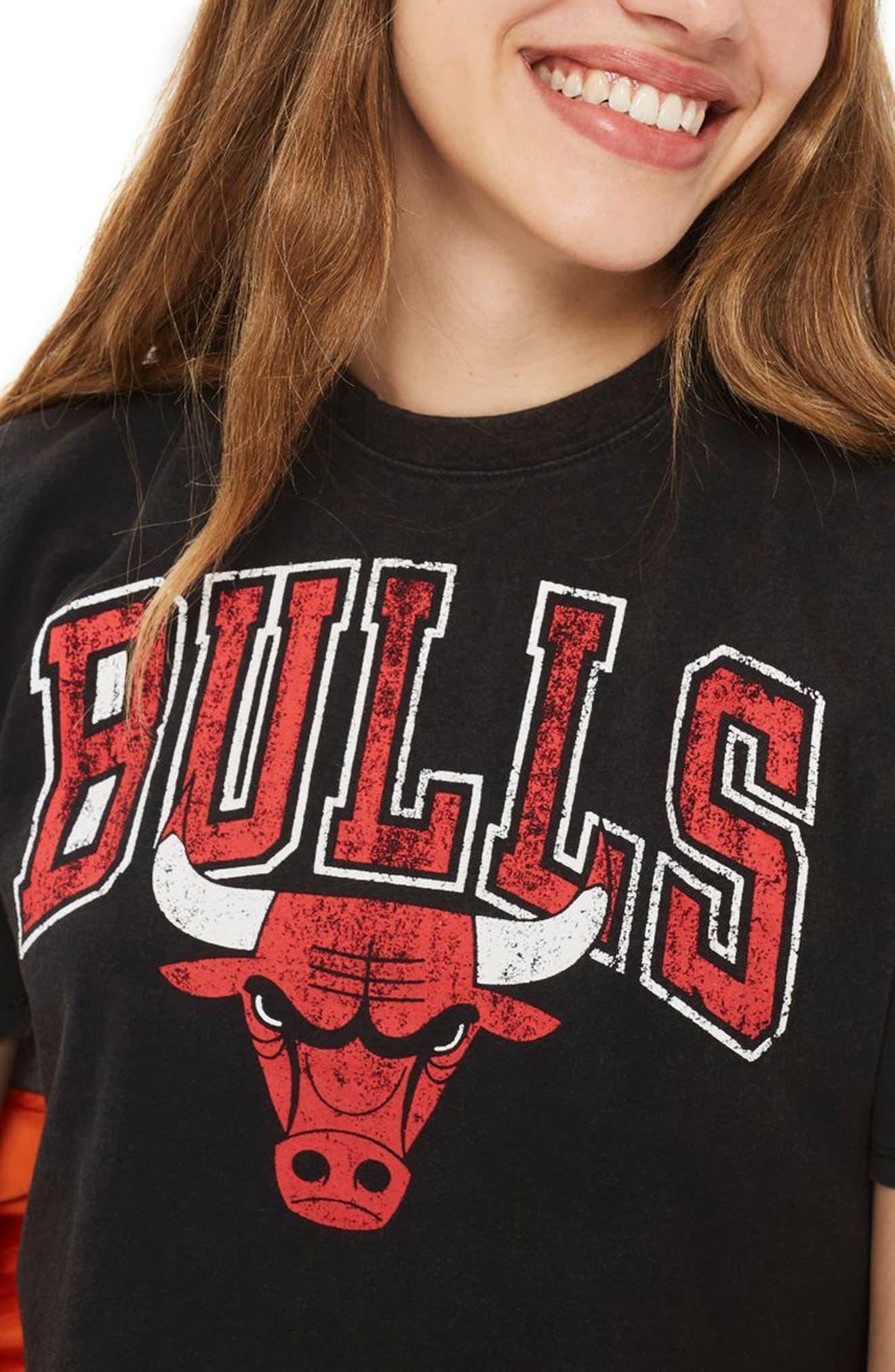 Topshop x UNK Bulls Crop Graphic Tee