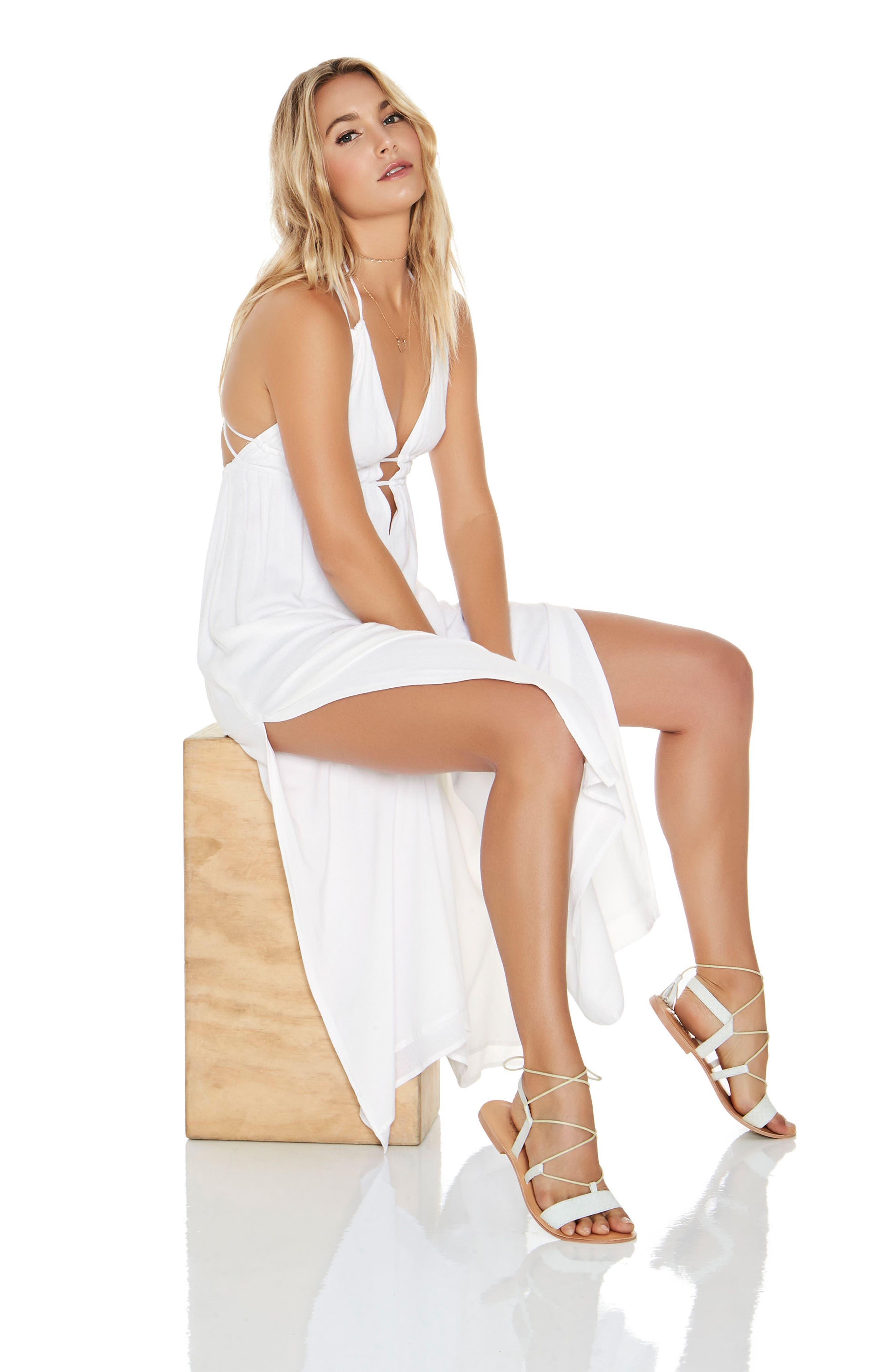 Beachside Beauty Cover-Up Dress,                             Alternate thumbnail 4, color,                             White