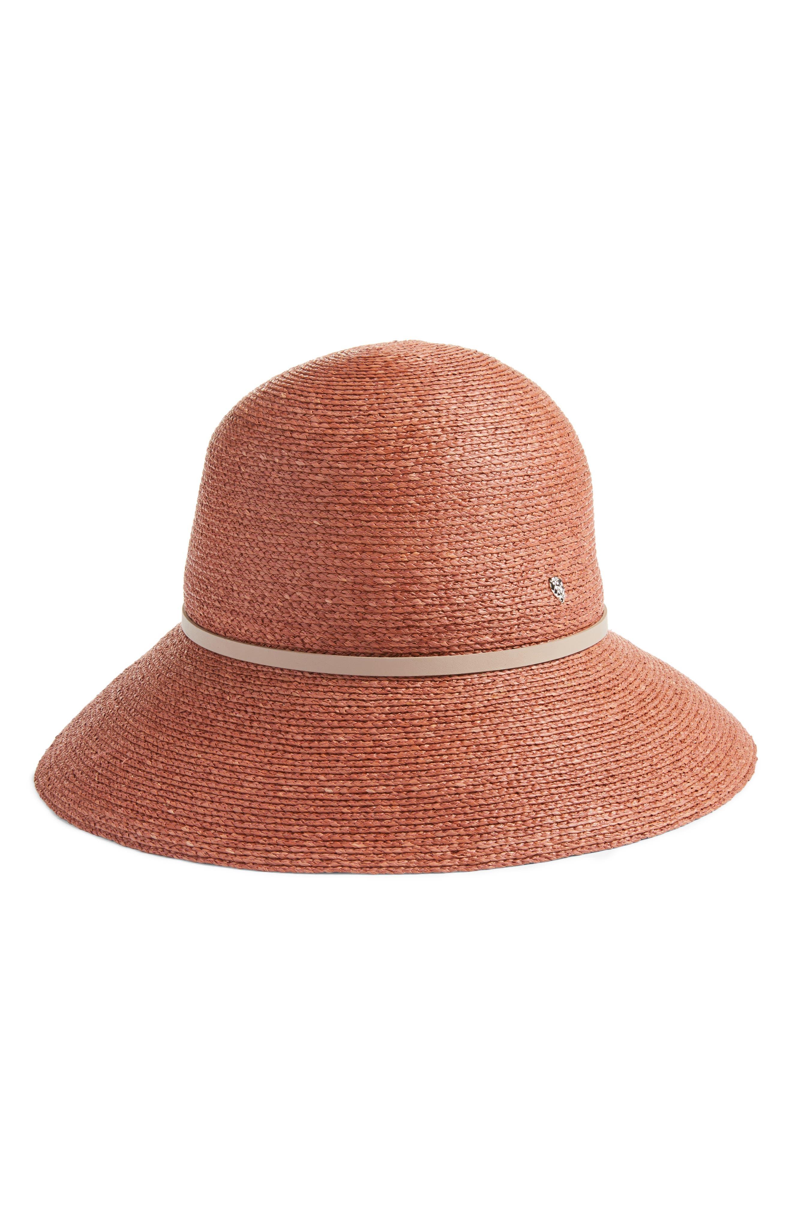 Packable Raffia Cloche Hat,                             Alternate thumbnail 2, color,                             Auburn