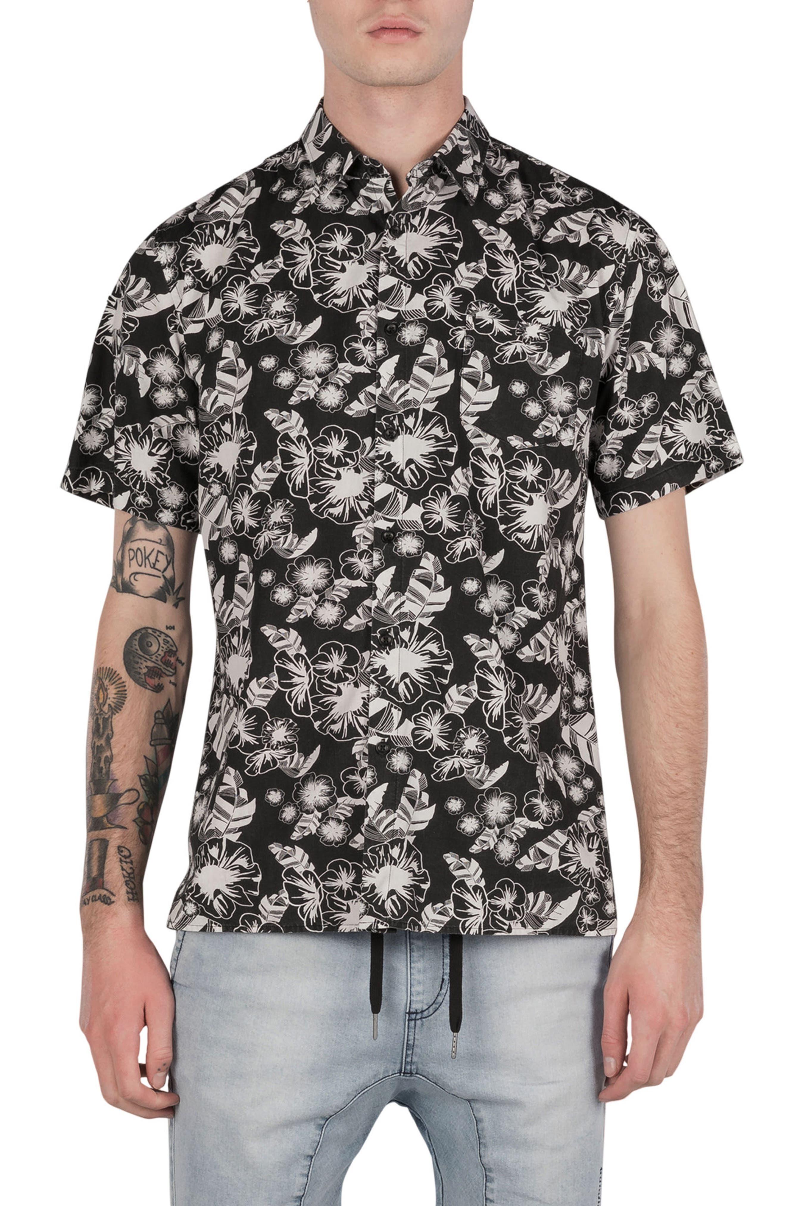 Kahuna Box Shirt,                             Main thumbnail 1, color,                             Black