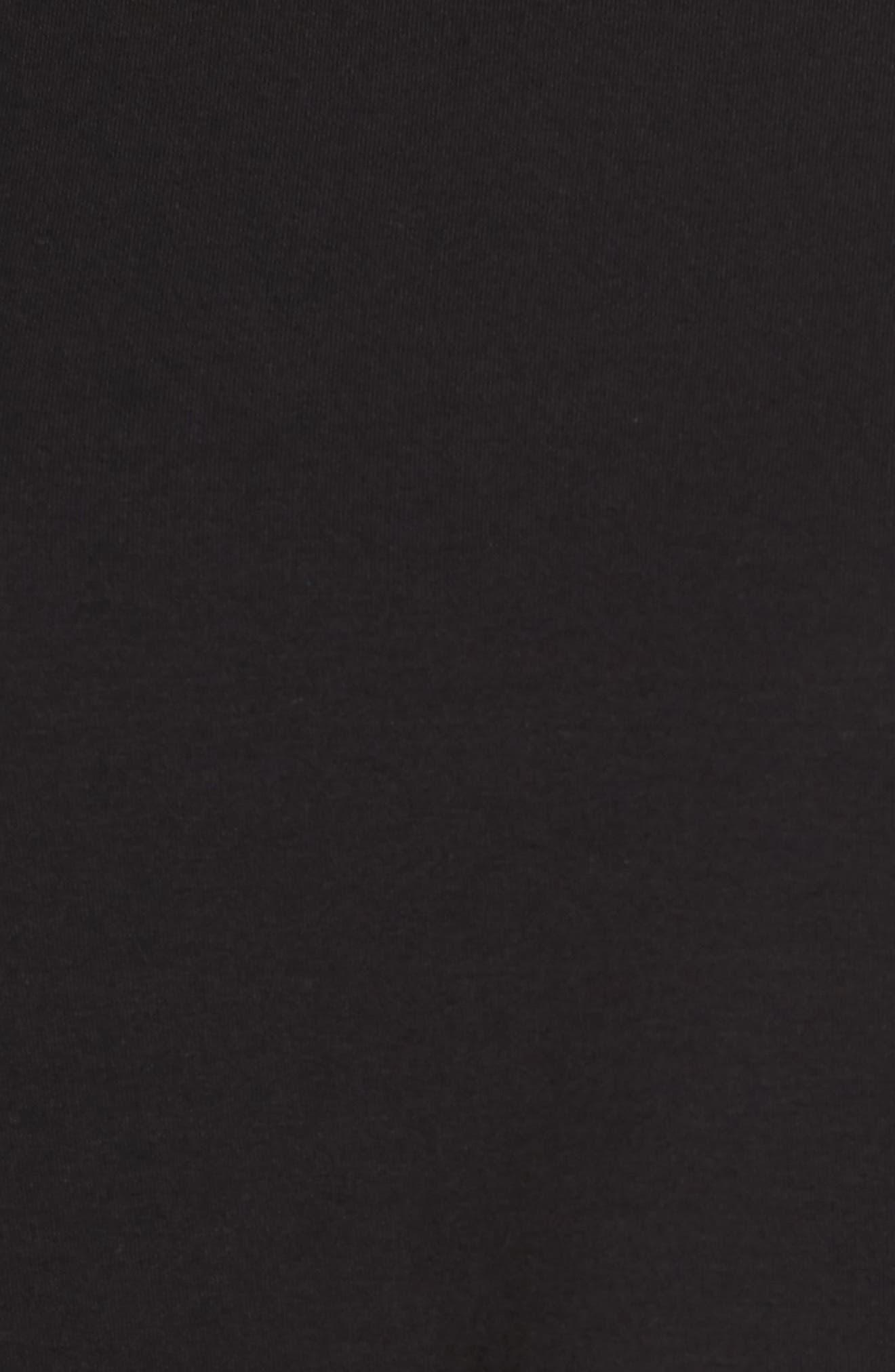 Mock Neck Top,                             Alternate thumbnail 5, color,                             Black