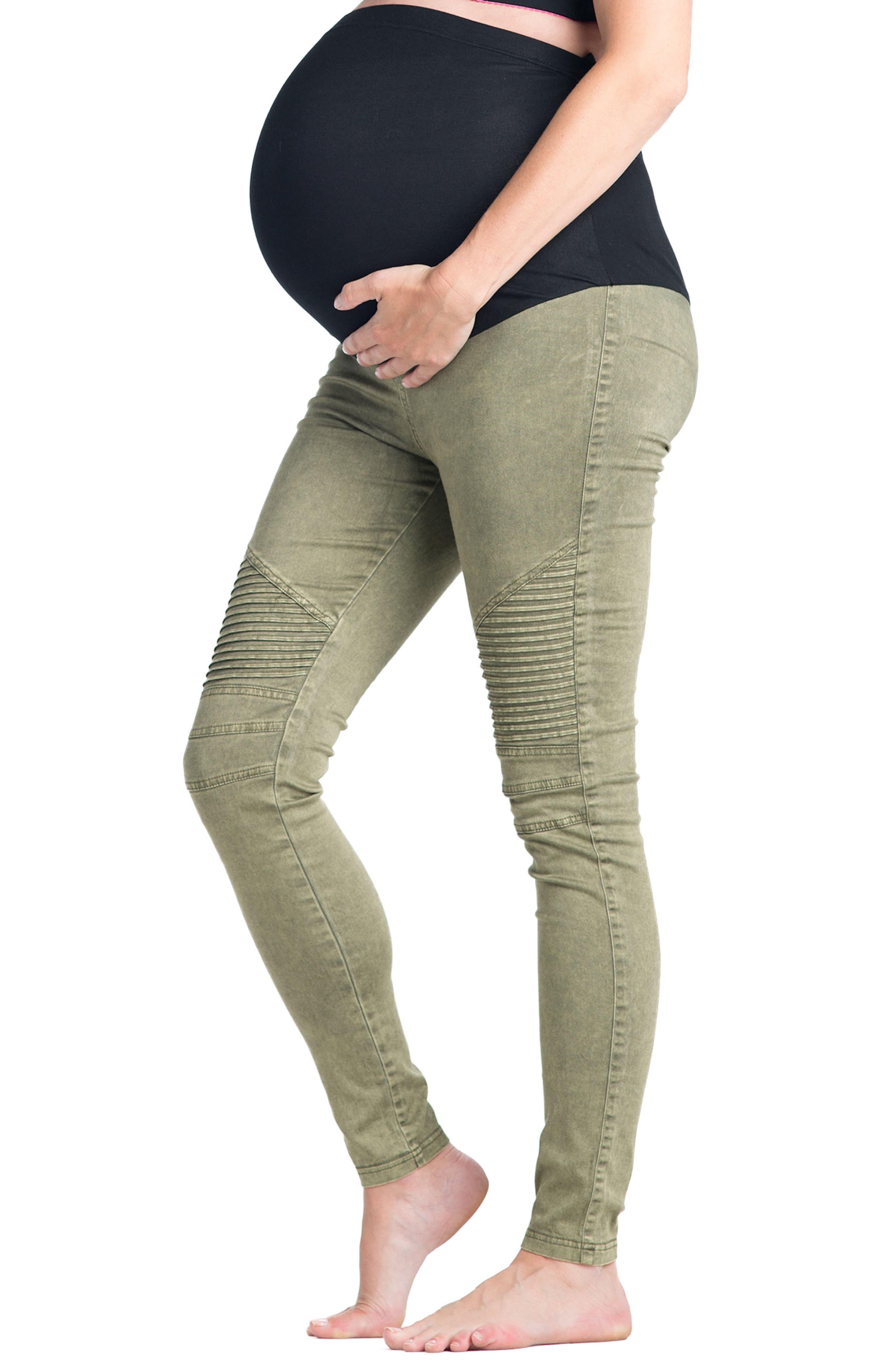 Alternate Image 2  - Preggo Leggings Moto Maternity Leggings