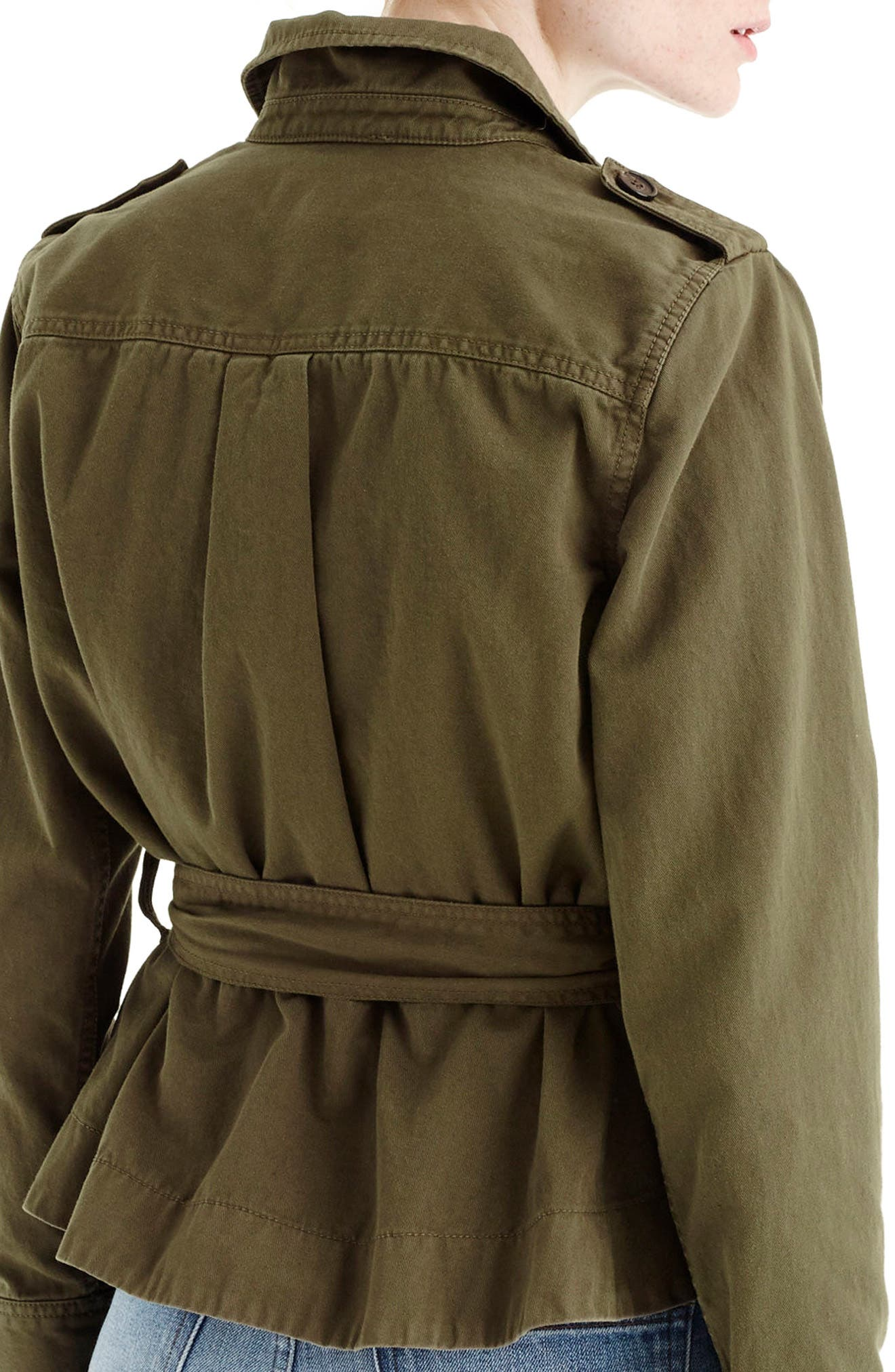 Cropped Fatigue Jacket,                             Alternate thumbnail 2, color,                             Tuscan Olive