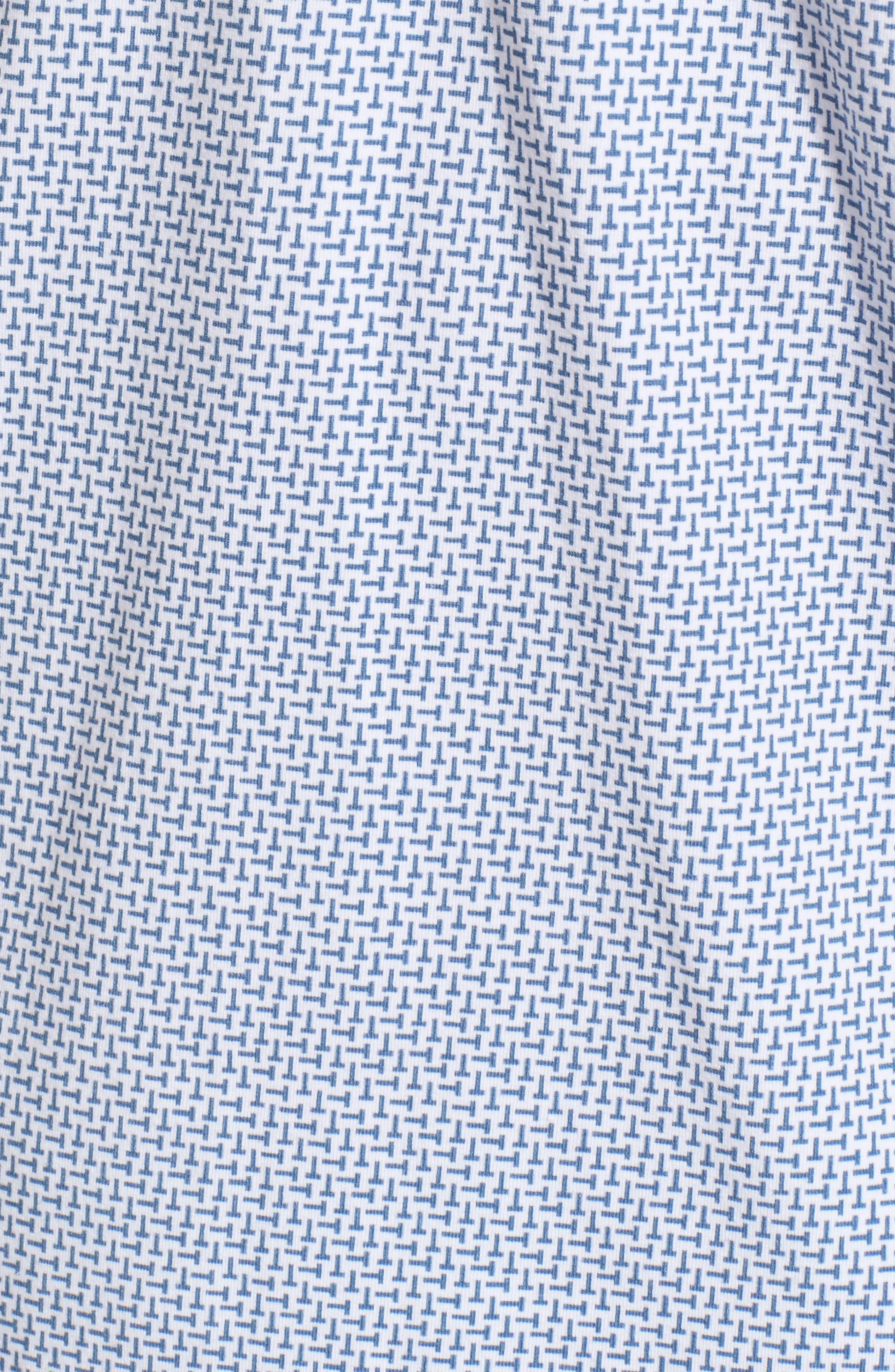 Sloughi Trim Fit Stretch Polo Shirt,                             Alternate thumbnail 5, color,                             Blue