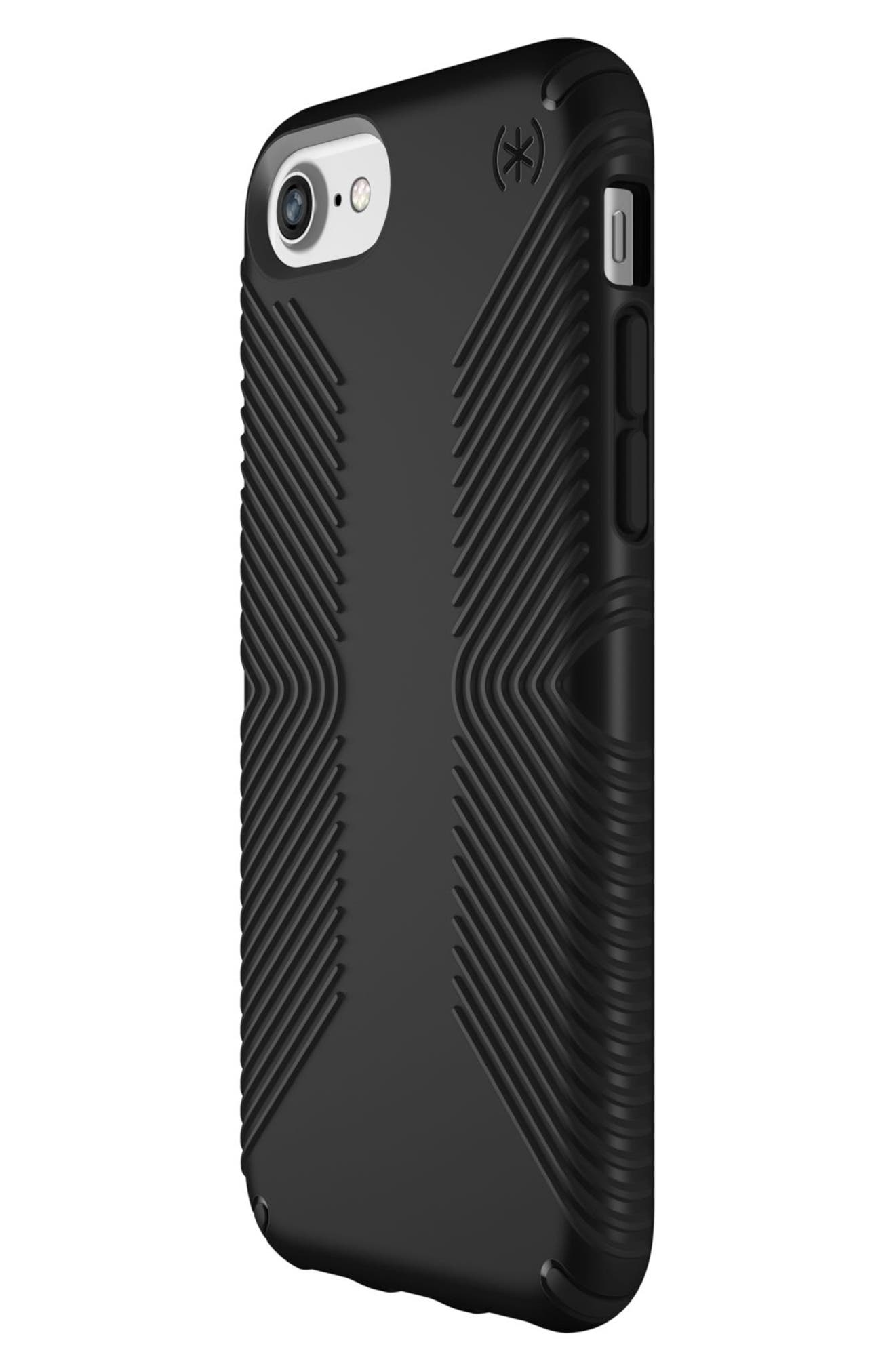Grip iPhone 6/6s/7/8 Case,                             Alternate thumbnail 3, color,                             Black/ Black