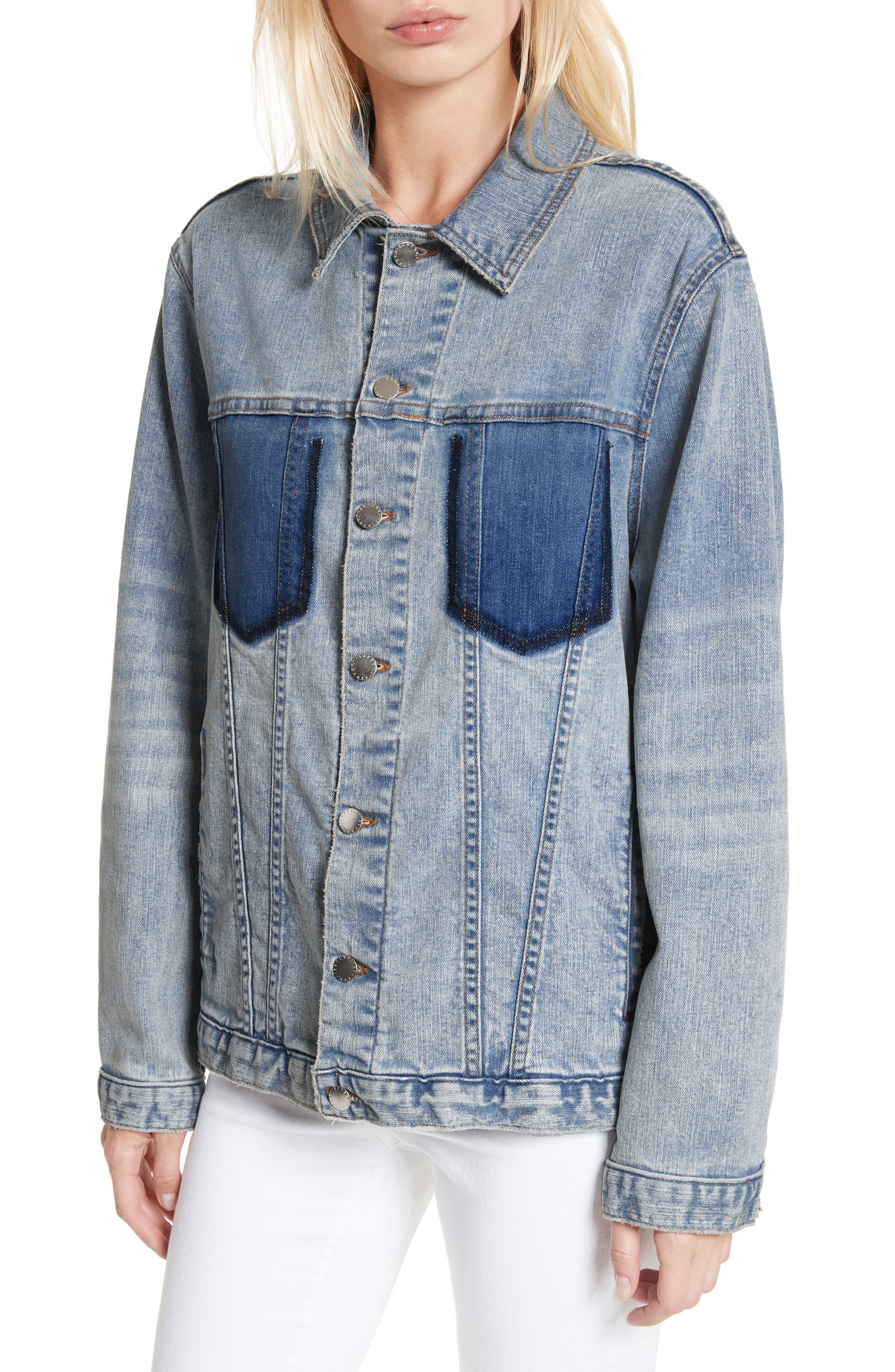 Alternate Image 4  - L'AGENCE Karina Shadow Pocket Denim Jacket