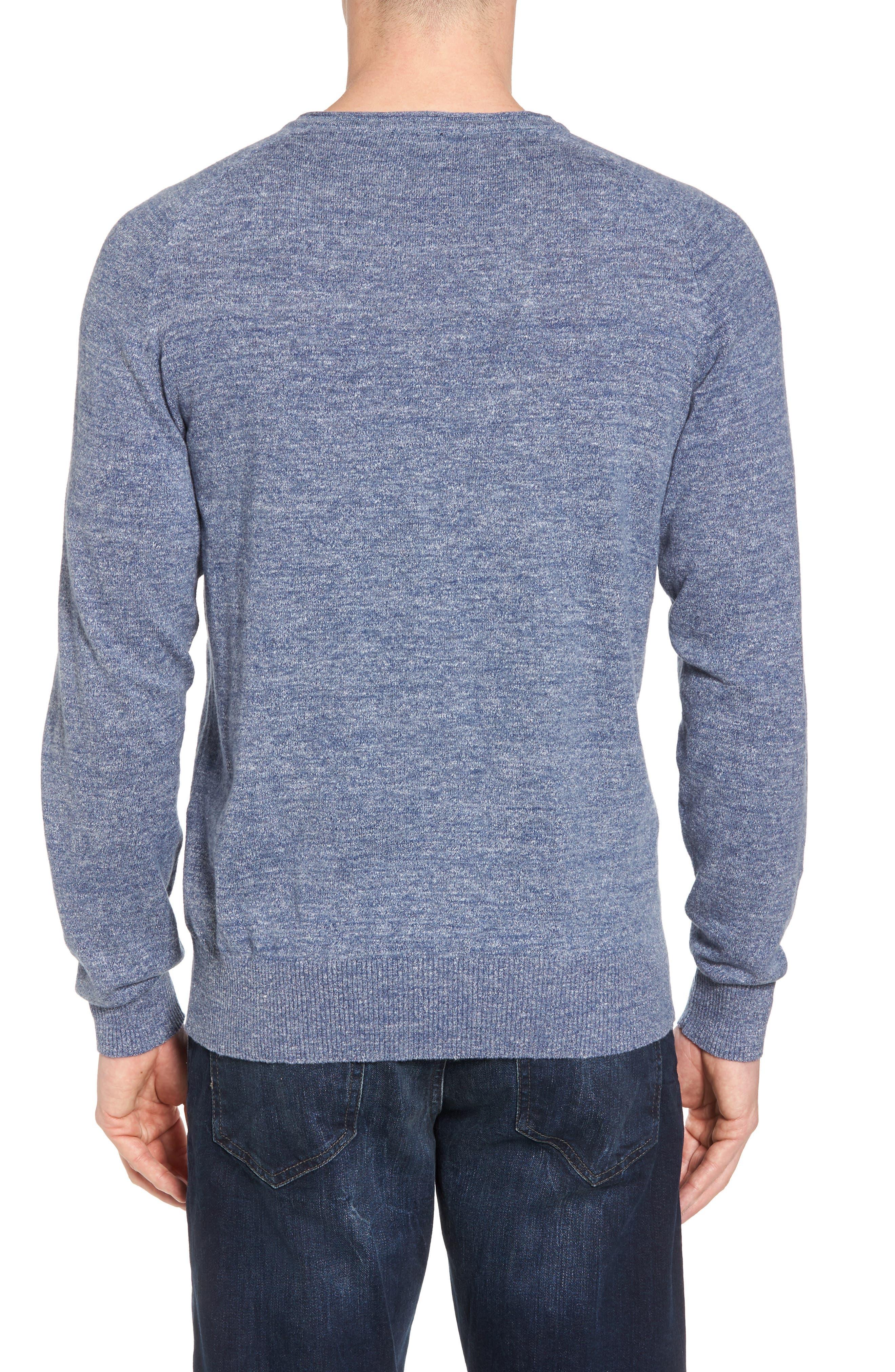 Arbors Cotton V-Neck Sweater,                             Alternate thumbnail 2, color,                             Riviera