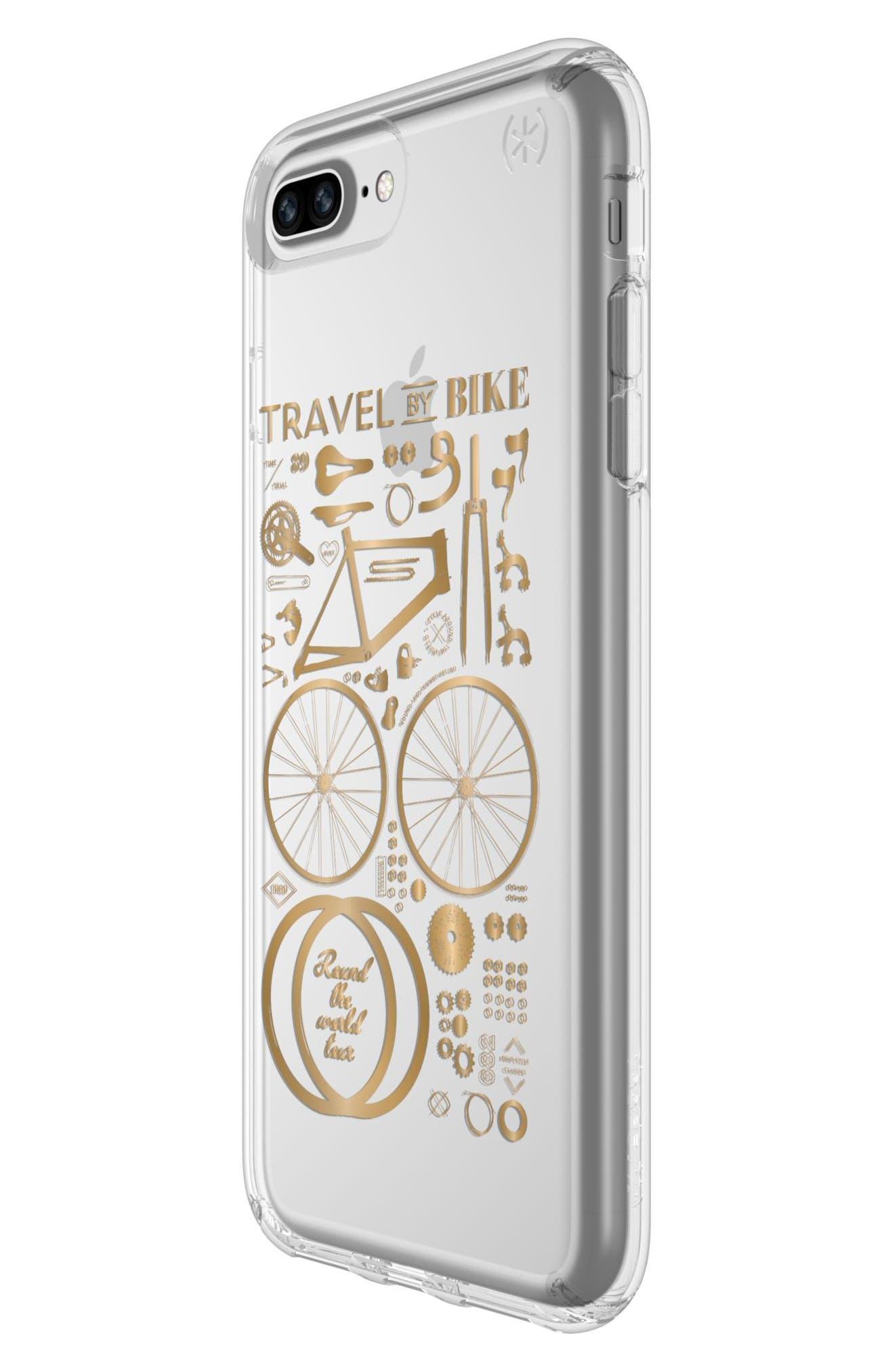iPhone 6 Plus/6S Plus/7 Plus/8 Plus Case,                             Alternate thumbnail 3, color,                             Citybike Metallic Gold/ Clear