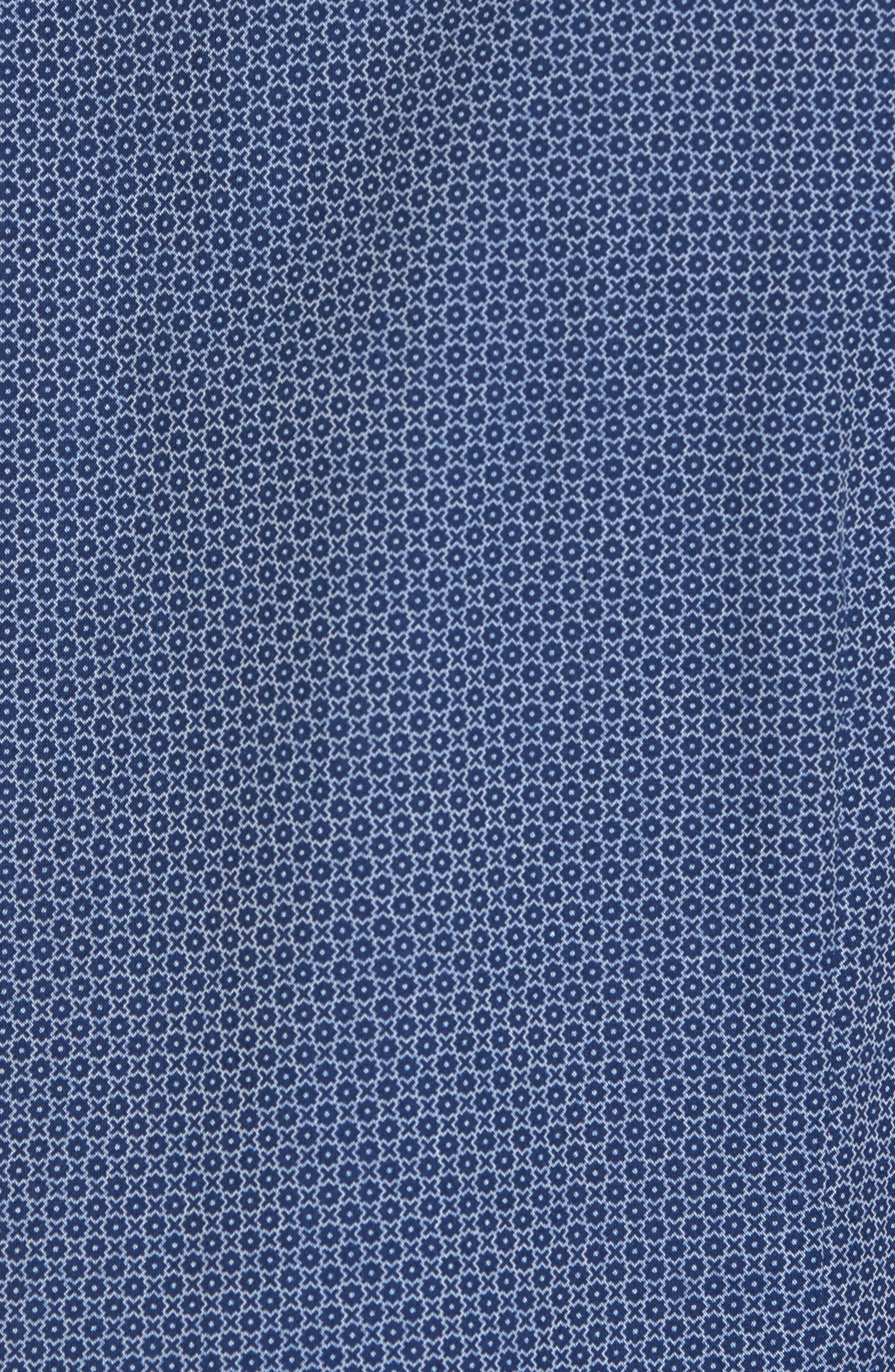 Holic Trim Fit Geometric Sport Shirt,                             Alternate thumbnail 5, color,                             Blue