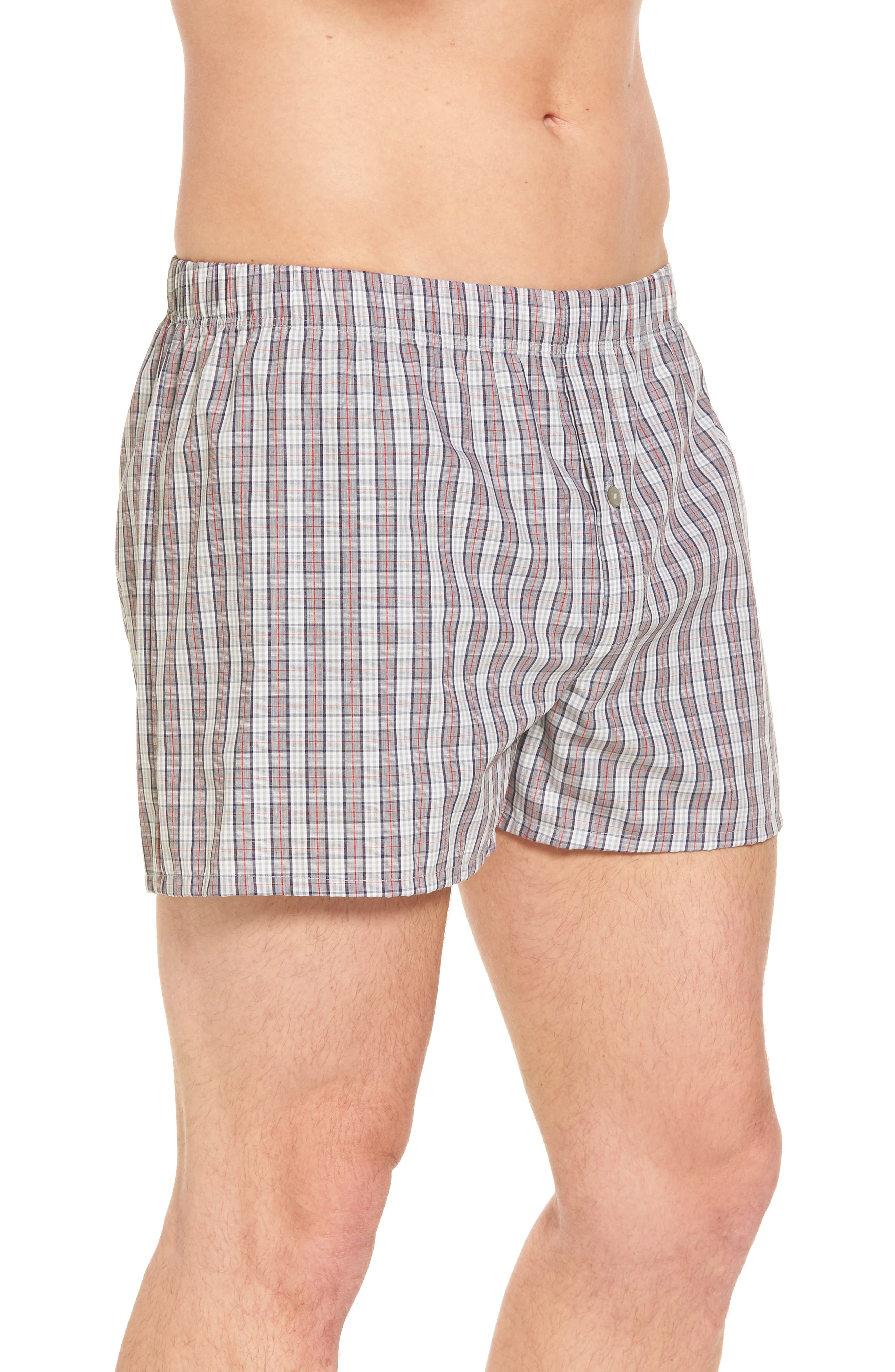 Fancy Cotton Boxers,                             Alternate thumbnail 3, color,                             Red Karo