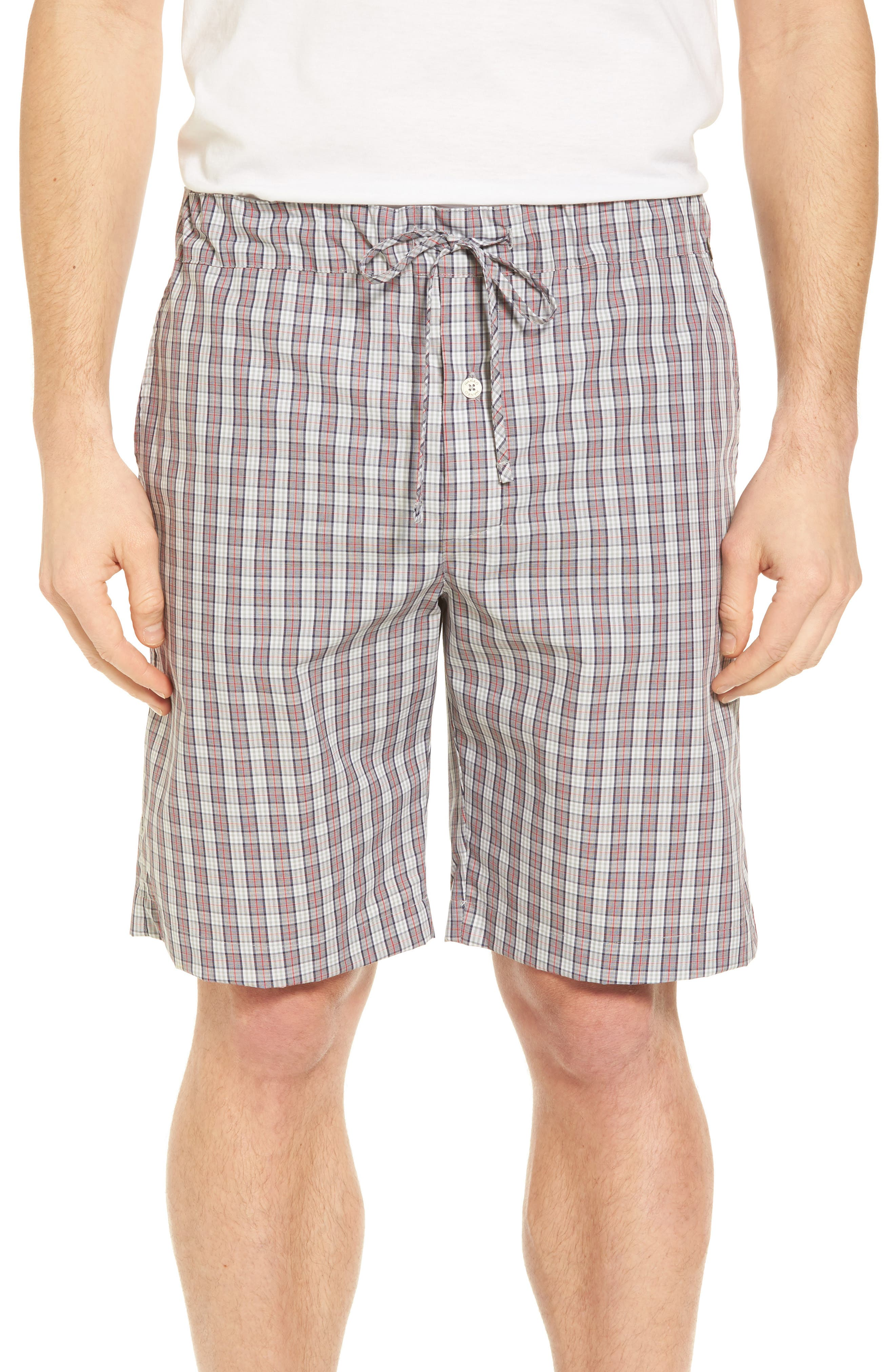 Night & Day Cotton Lounge Shorts,                         Main,                         color, Red Karo