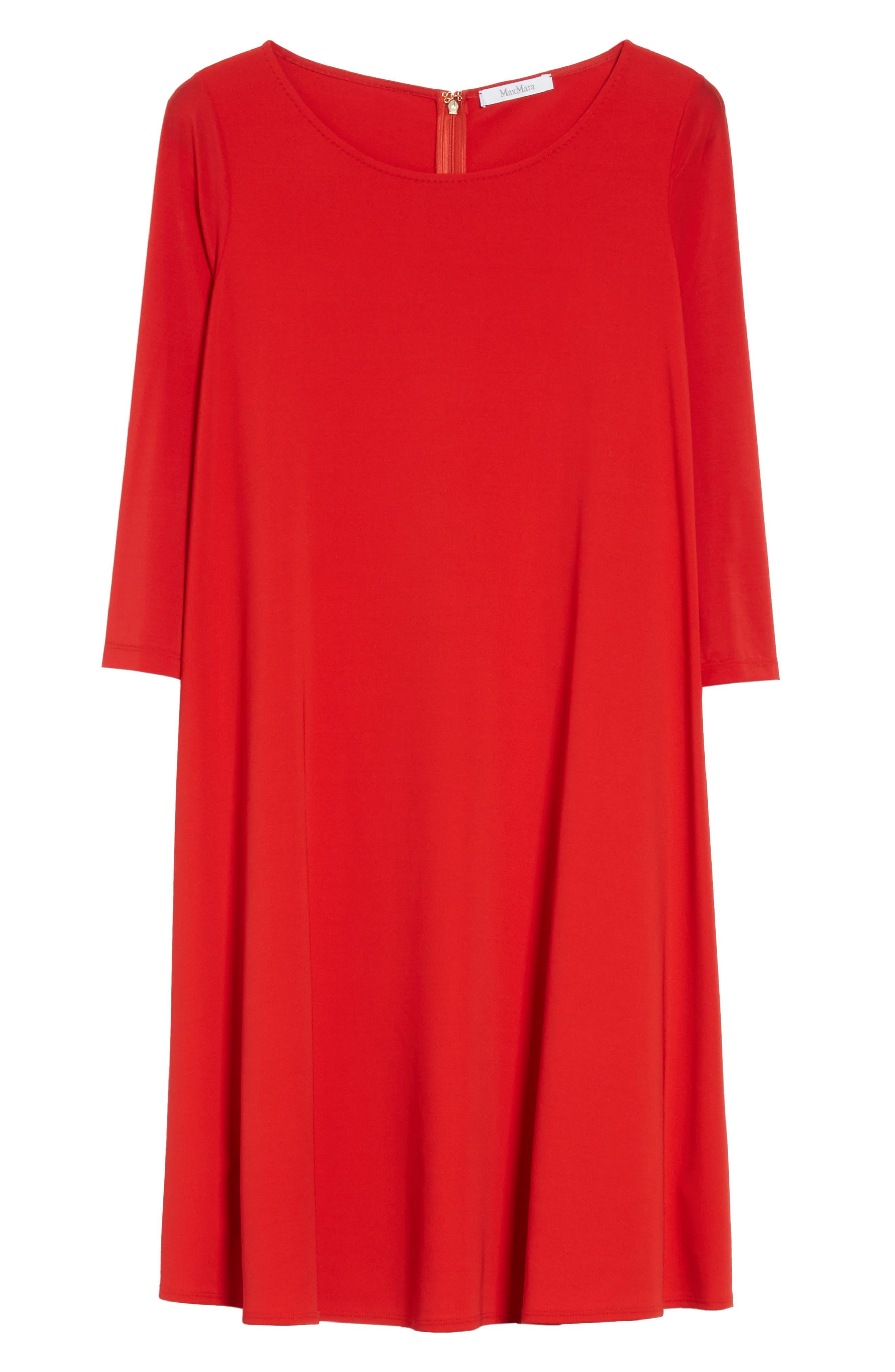 Pigna Swing Dress,                             Alternate thumbnail 6, color,                             Red