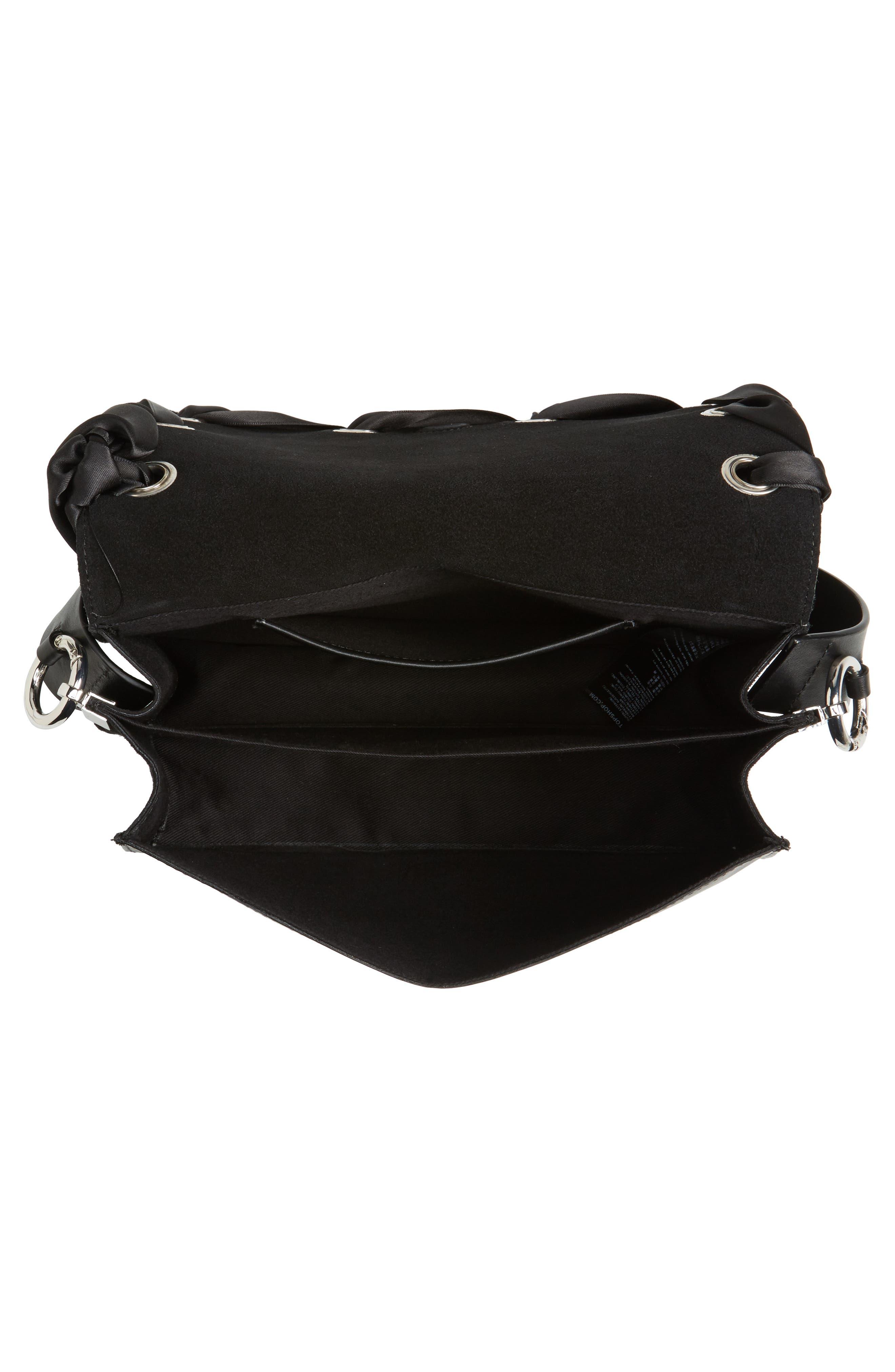 Alternate Image 3  - Topshop Premium Grace Leather Shoulder Bag