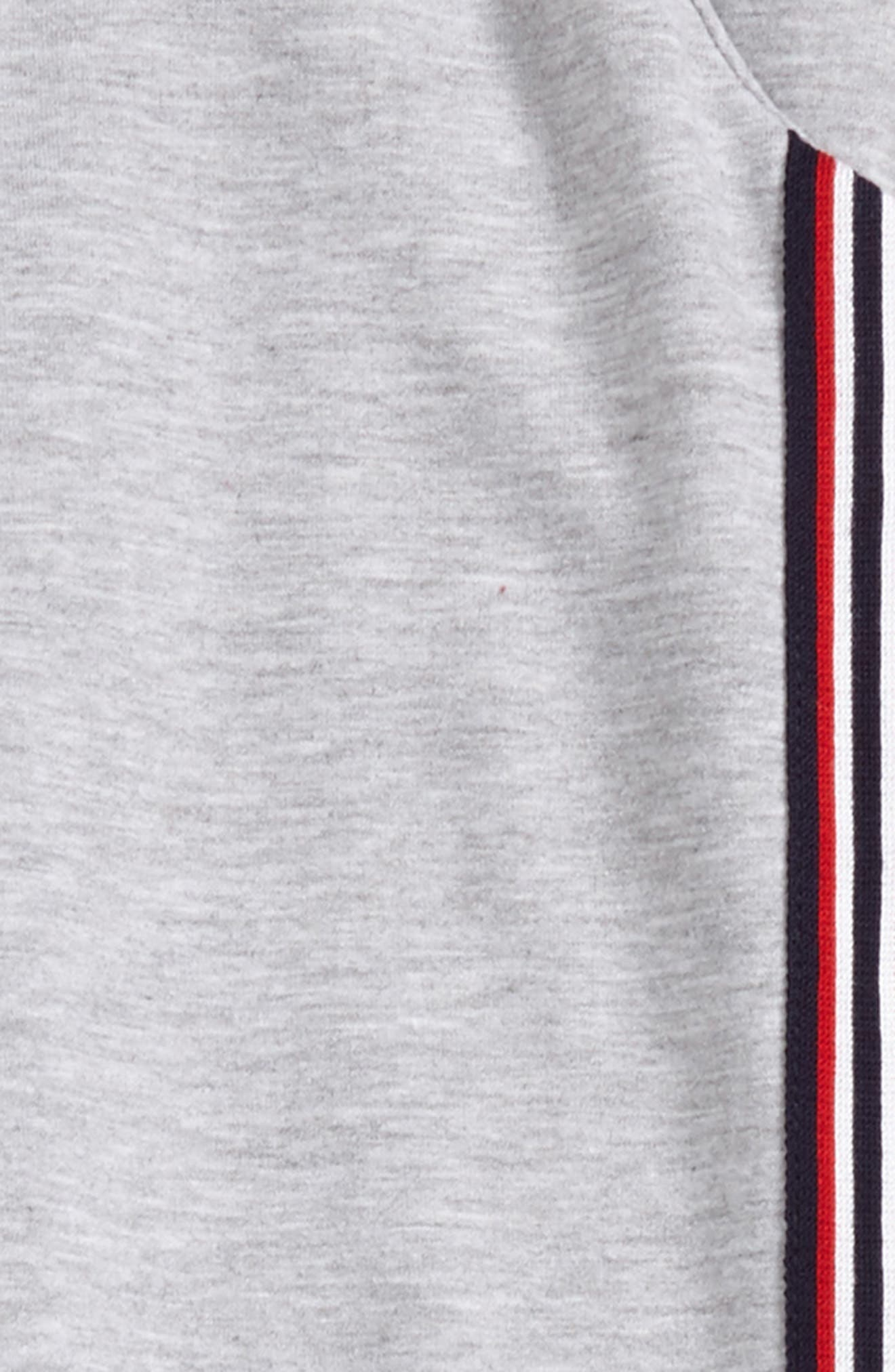 Side Stripe Sweatpants,                             Alternate thumbnail 2, color,                             Heather Grey/ Red