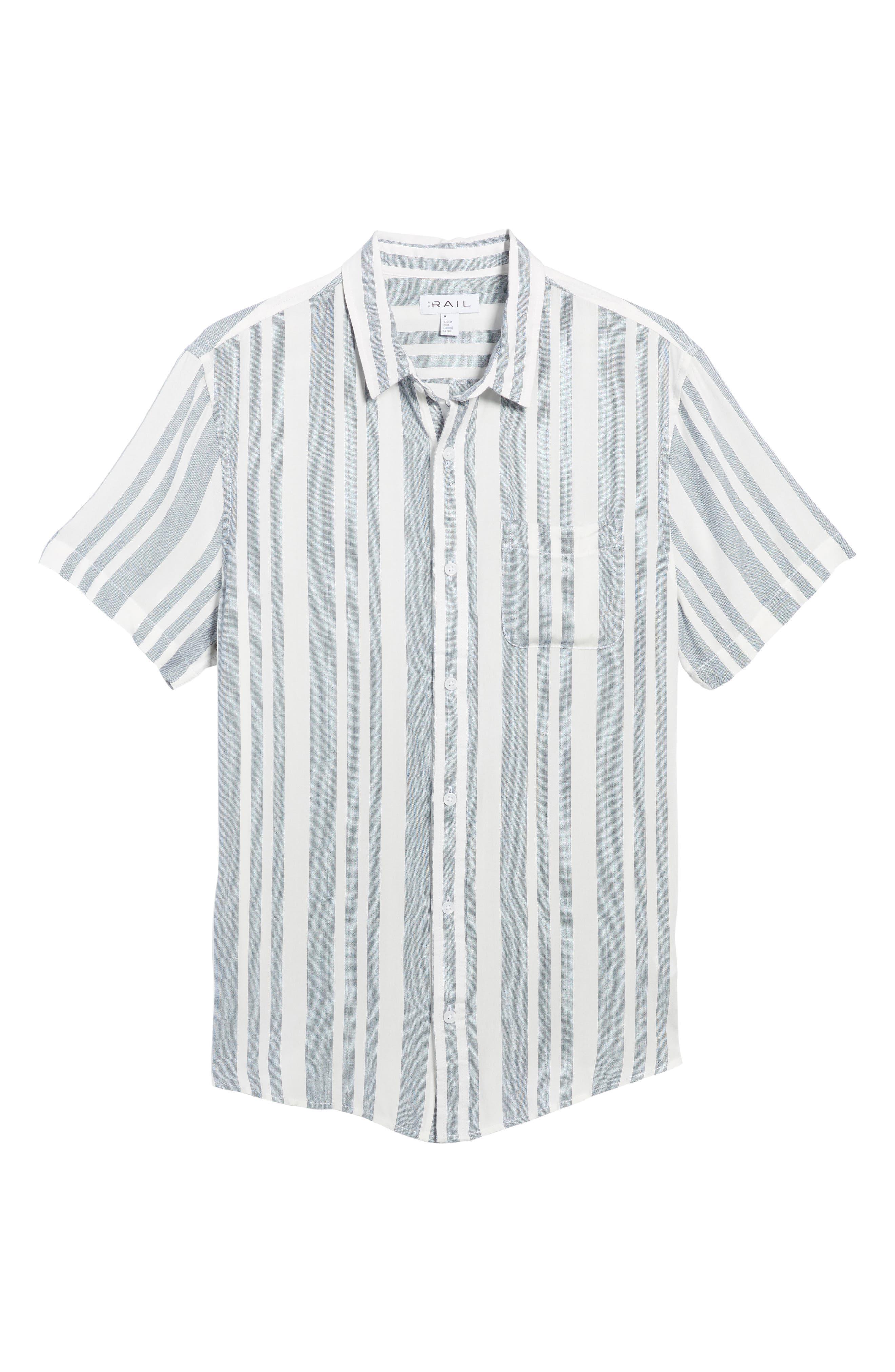 Stripe Woven Shirt,                             Alternate thumbnail 6, color,                             Navy White Eoe Stripe