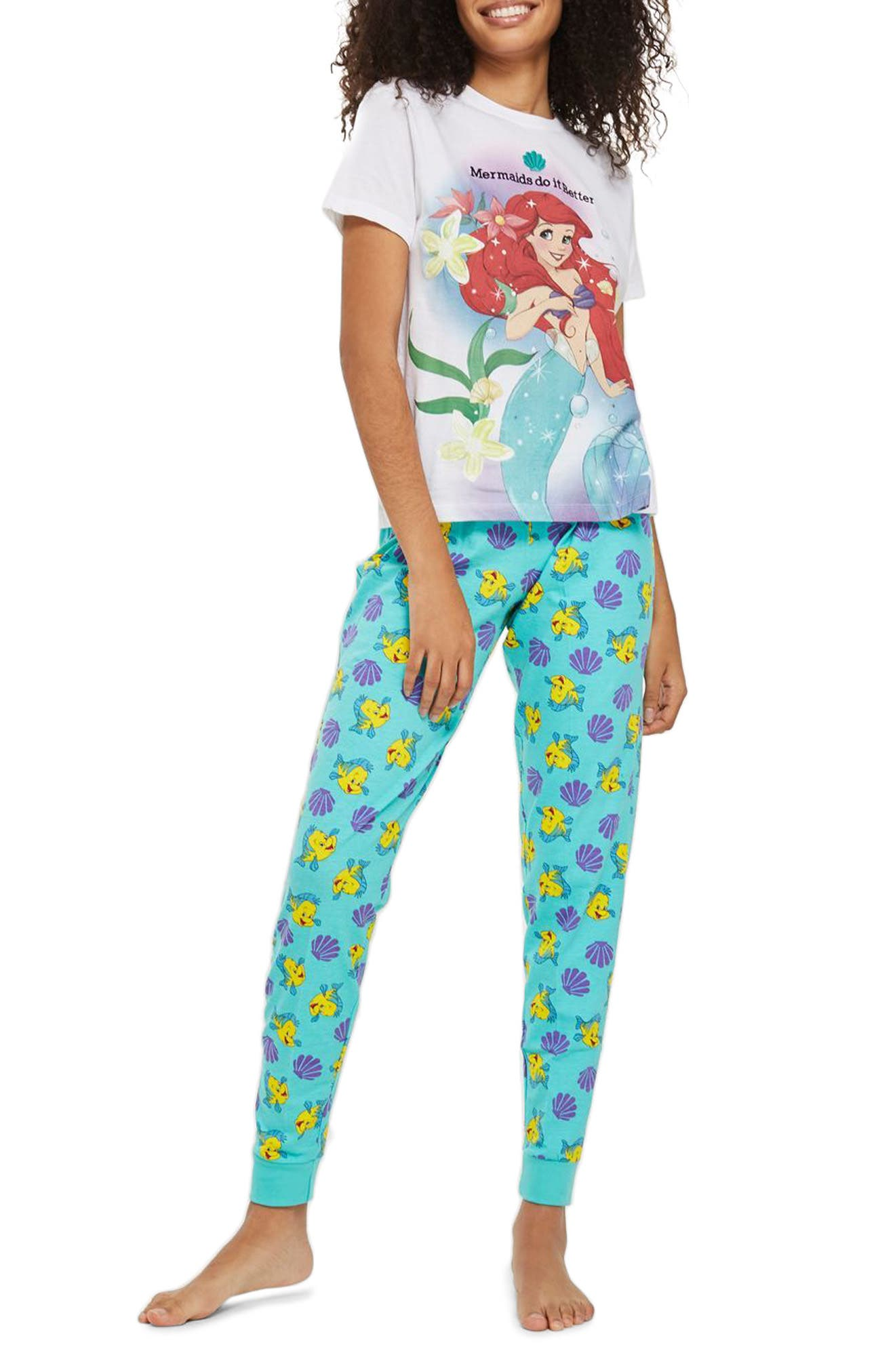 The Little Mermaid - Mermaids Do It Better Pajamas,                         Main,                         color, Blue Multi