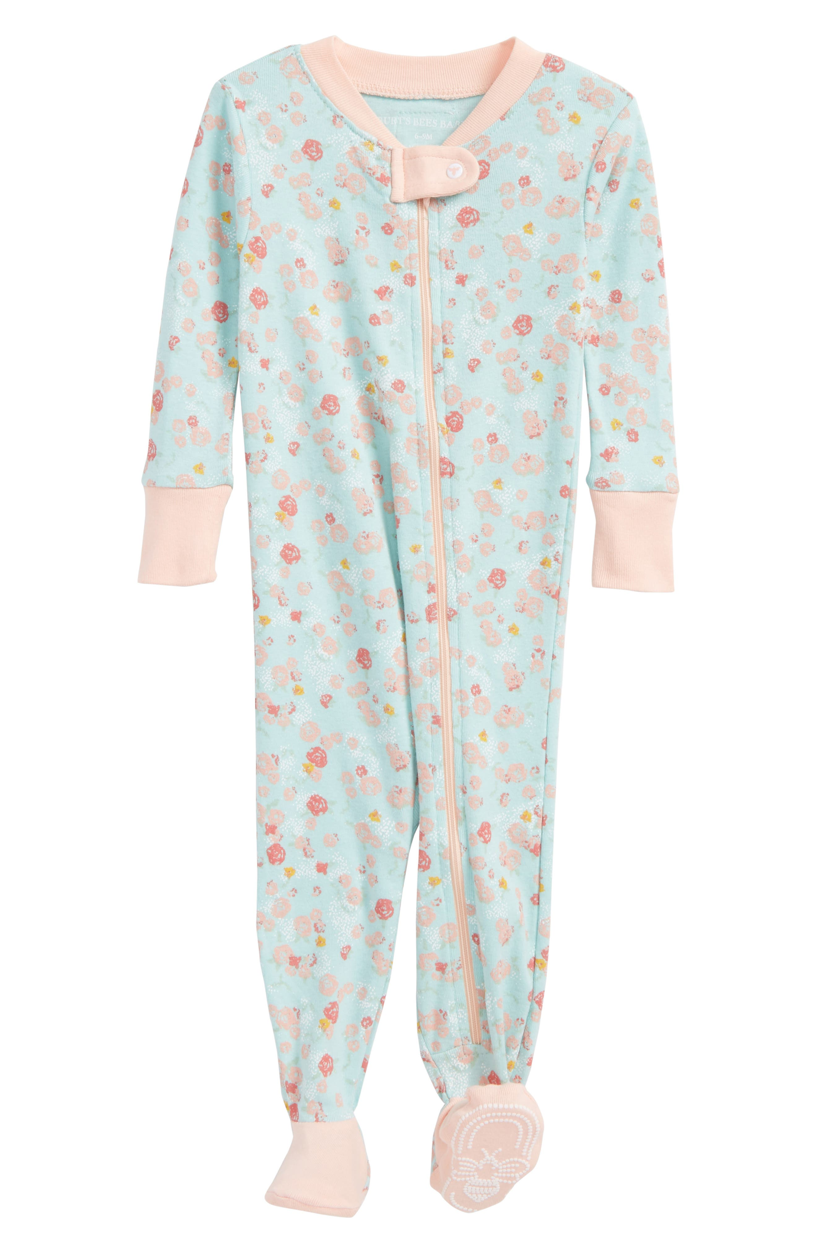 Burt's Bees Baby Ditsy Floral Lightweight Organic Cotton Fitted One-Piece Footie Pajamas (Baby Girls)