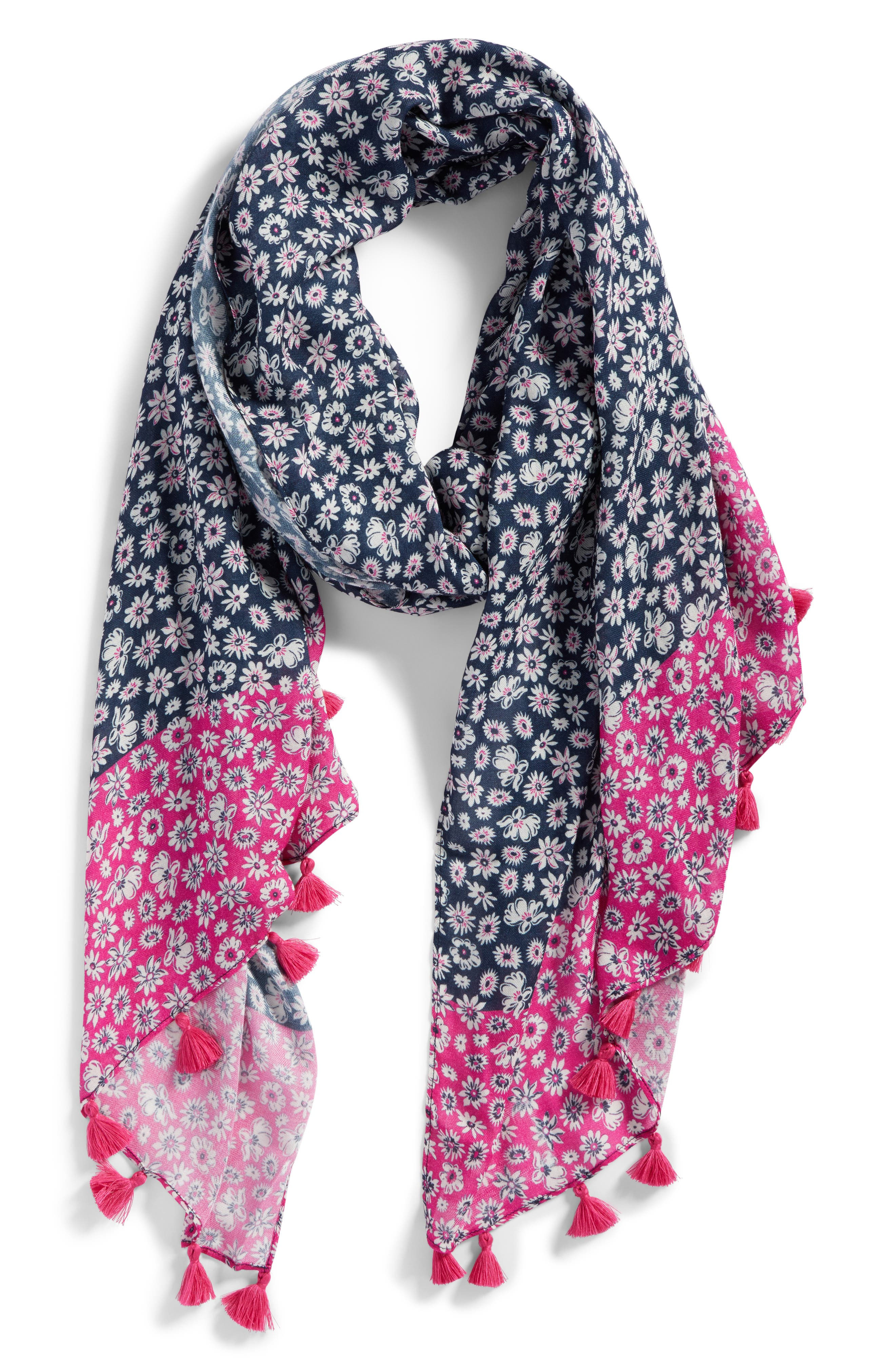 Petit Daisy Scarf,                             Alternate thumbnail 2, color,                             Navy