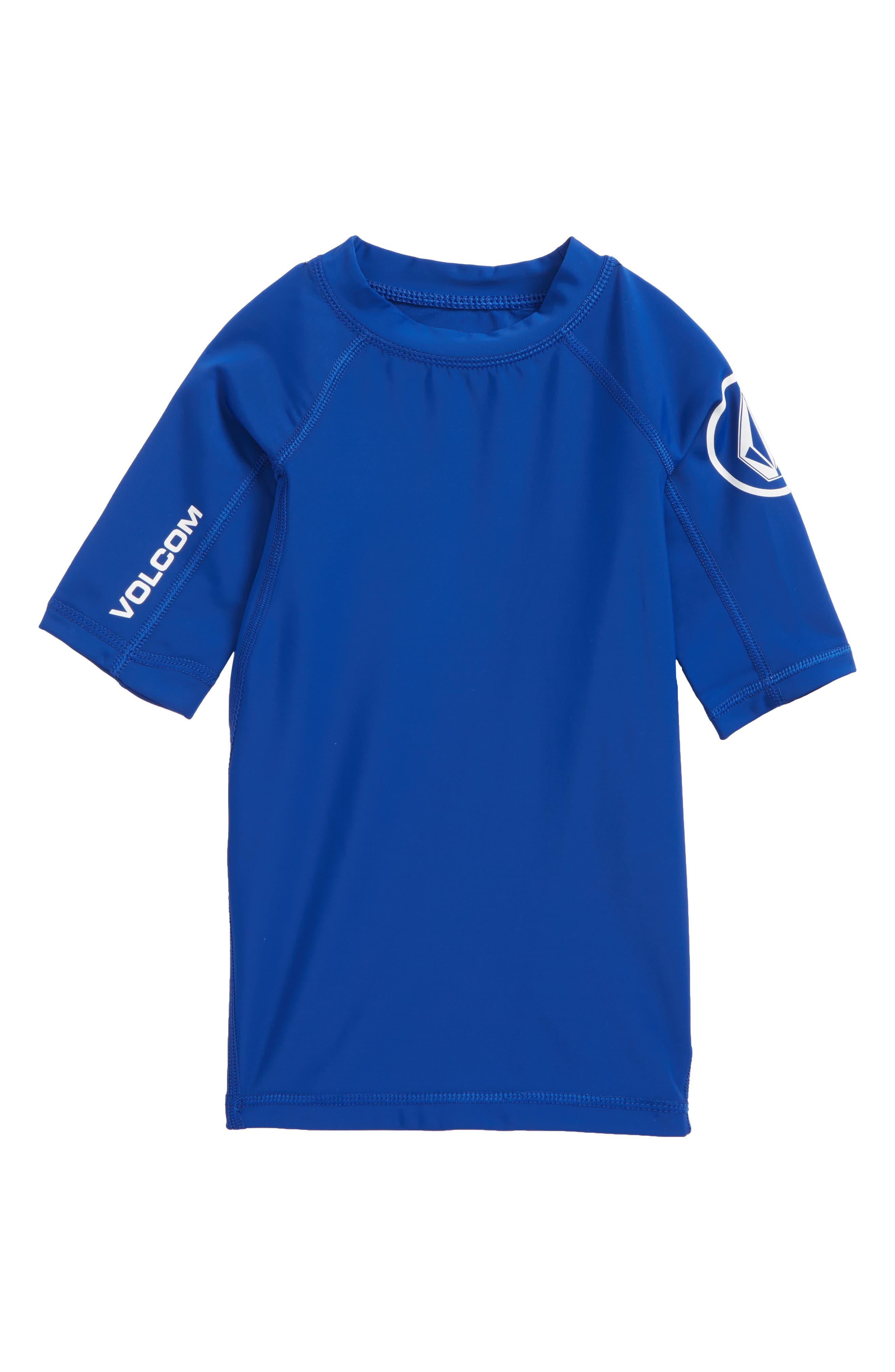 Lido Solid Rashguard,                         Main,                         color, Camper Blue