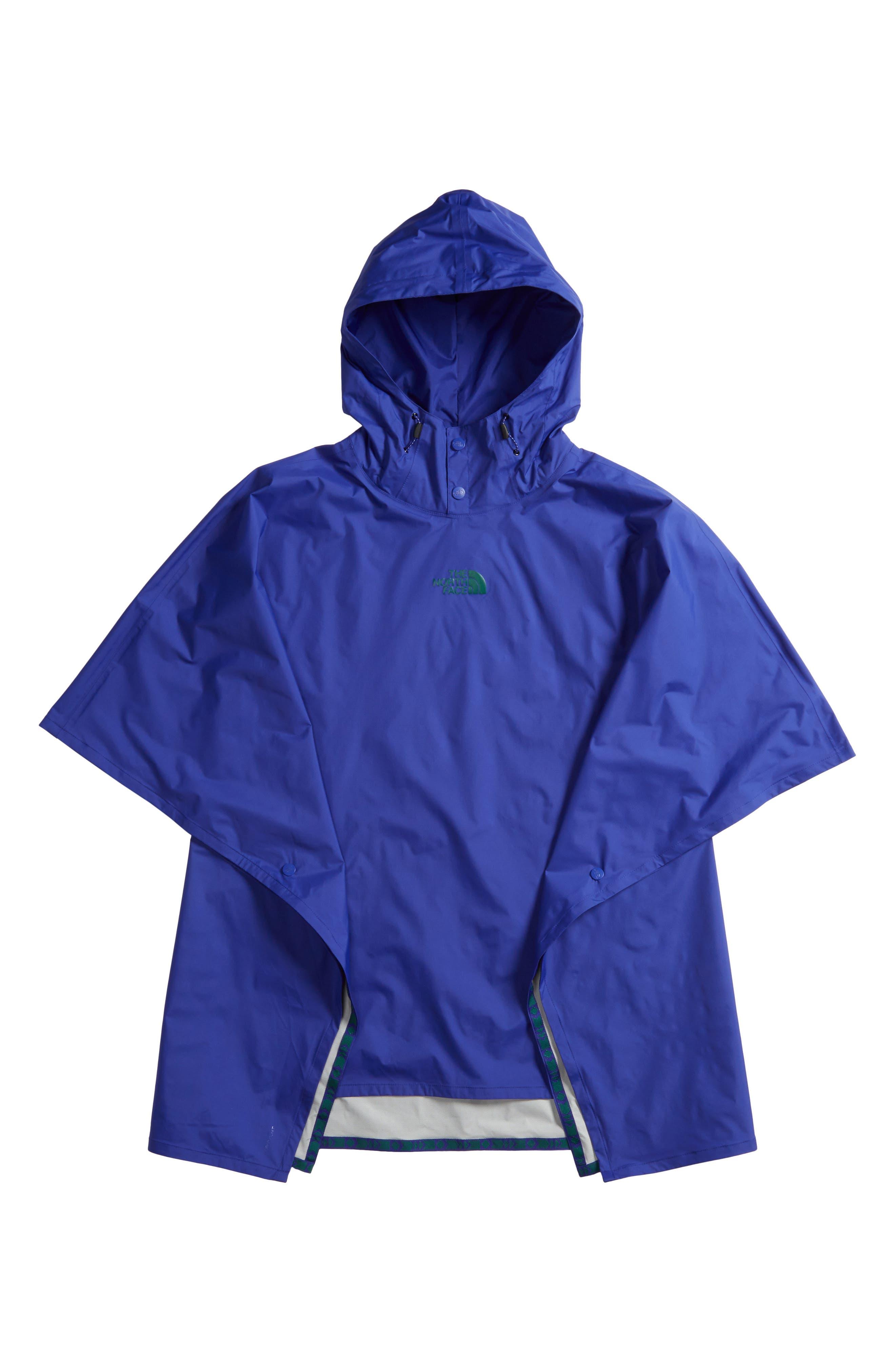 Unisex Rain Poncho,                         Main,                         color, Lapis Blue