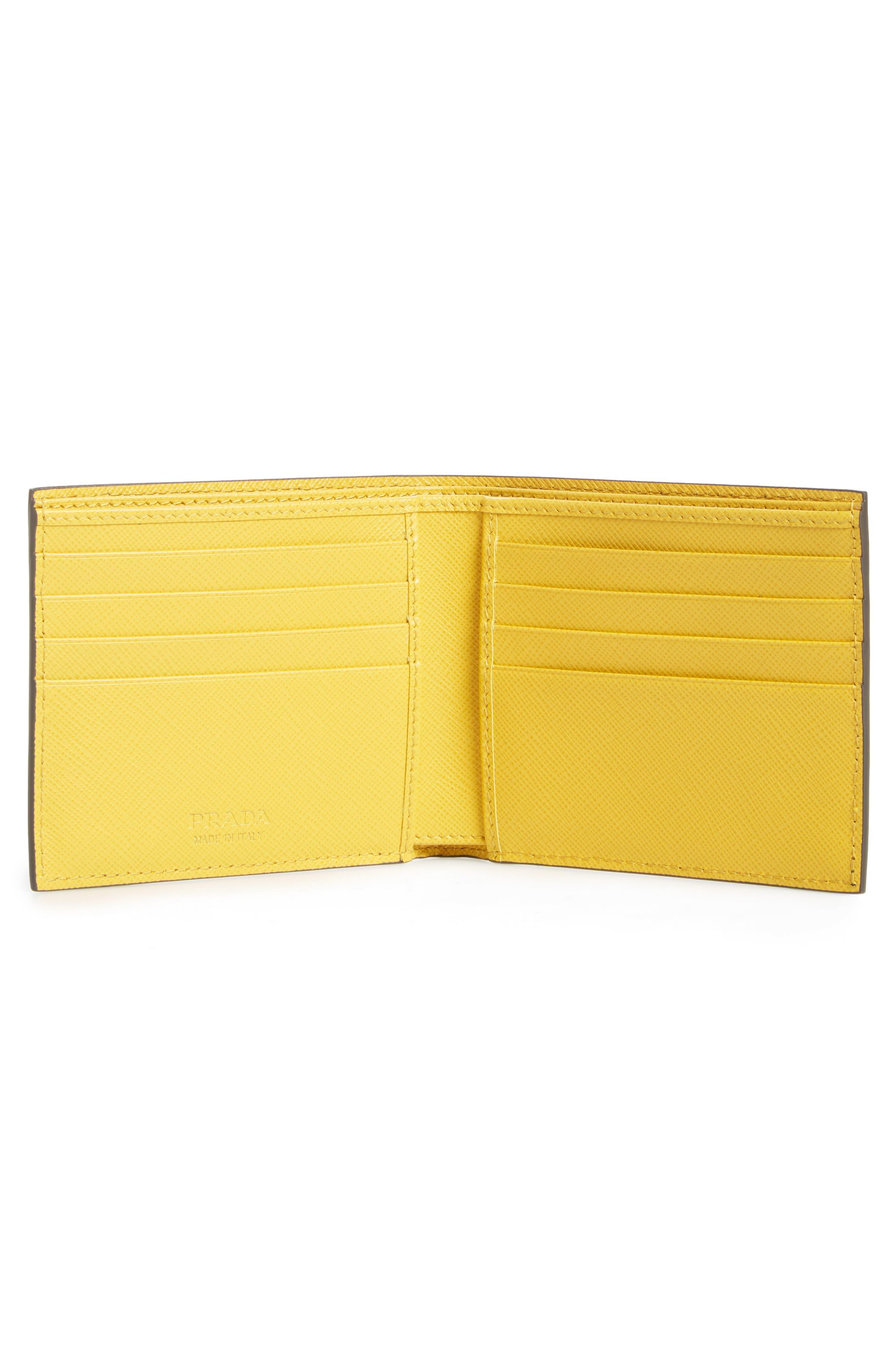 Alternate Image 2  - Prada Bicolor Leather Wallet