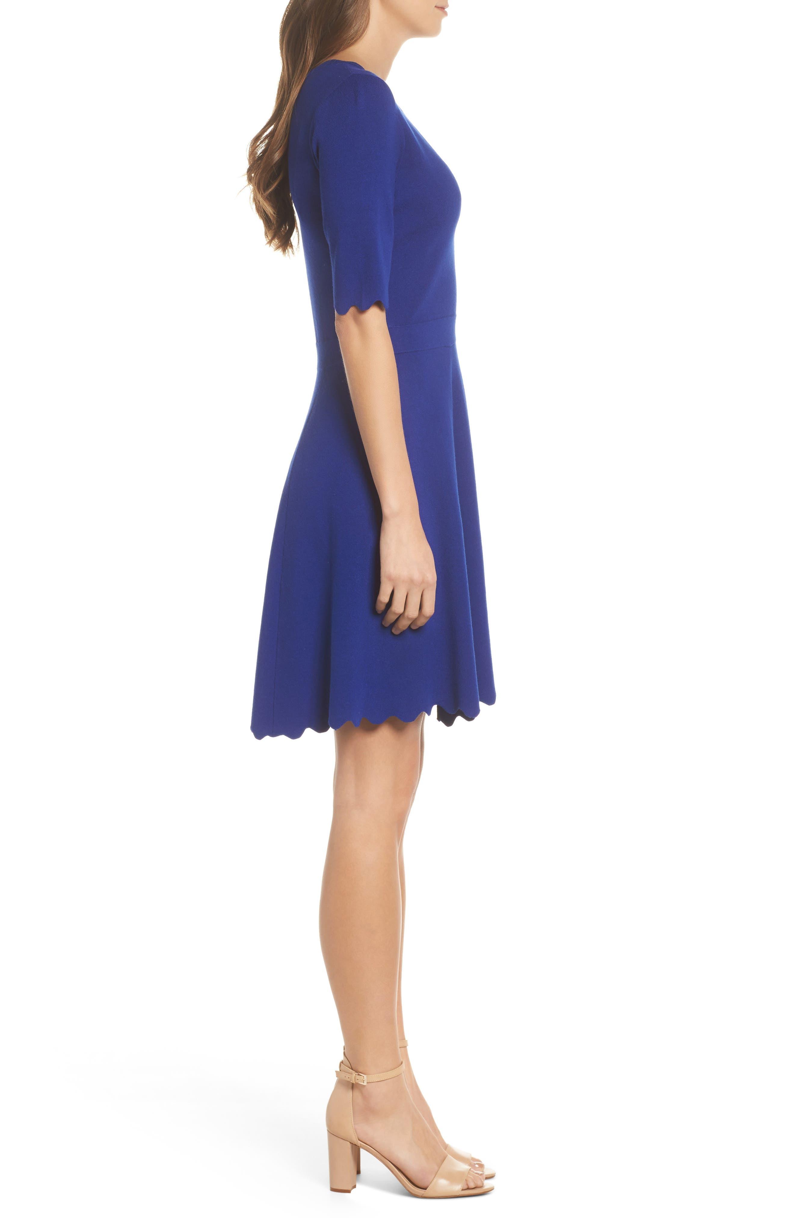 Alternate Image 3  - Eliza J Scallop Fit & Flare Dress