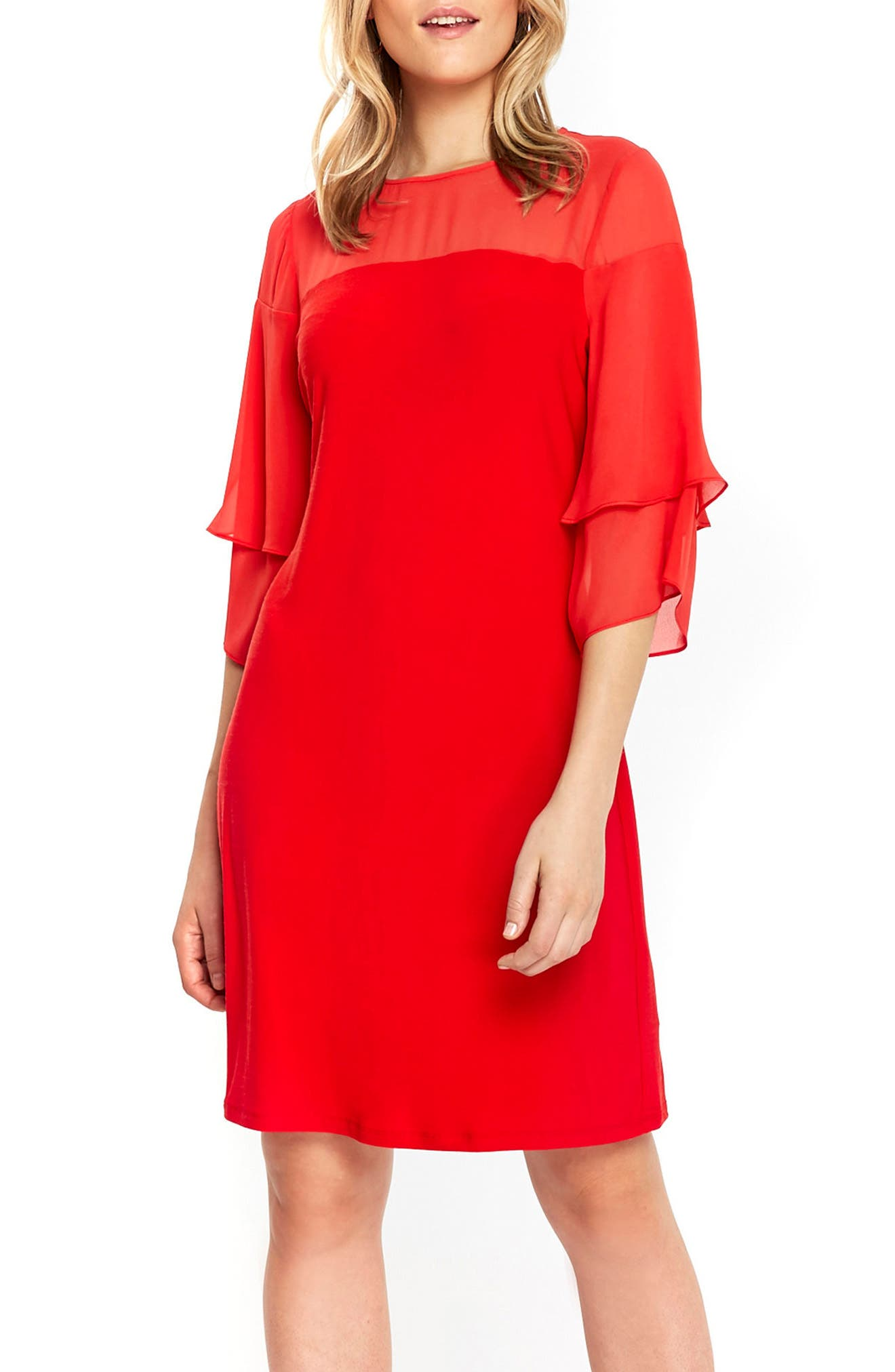 Wallis Bell Sleeve A-Line Dress