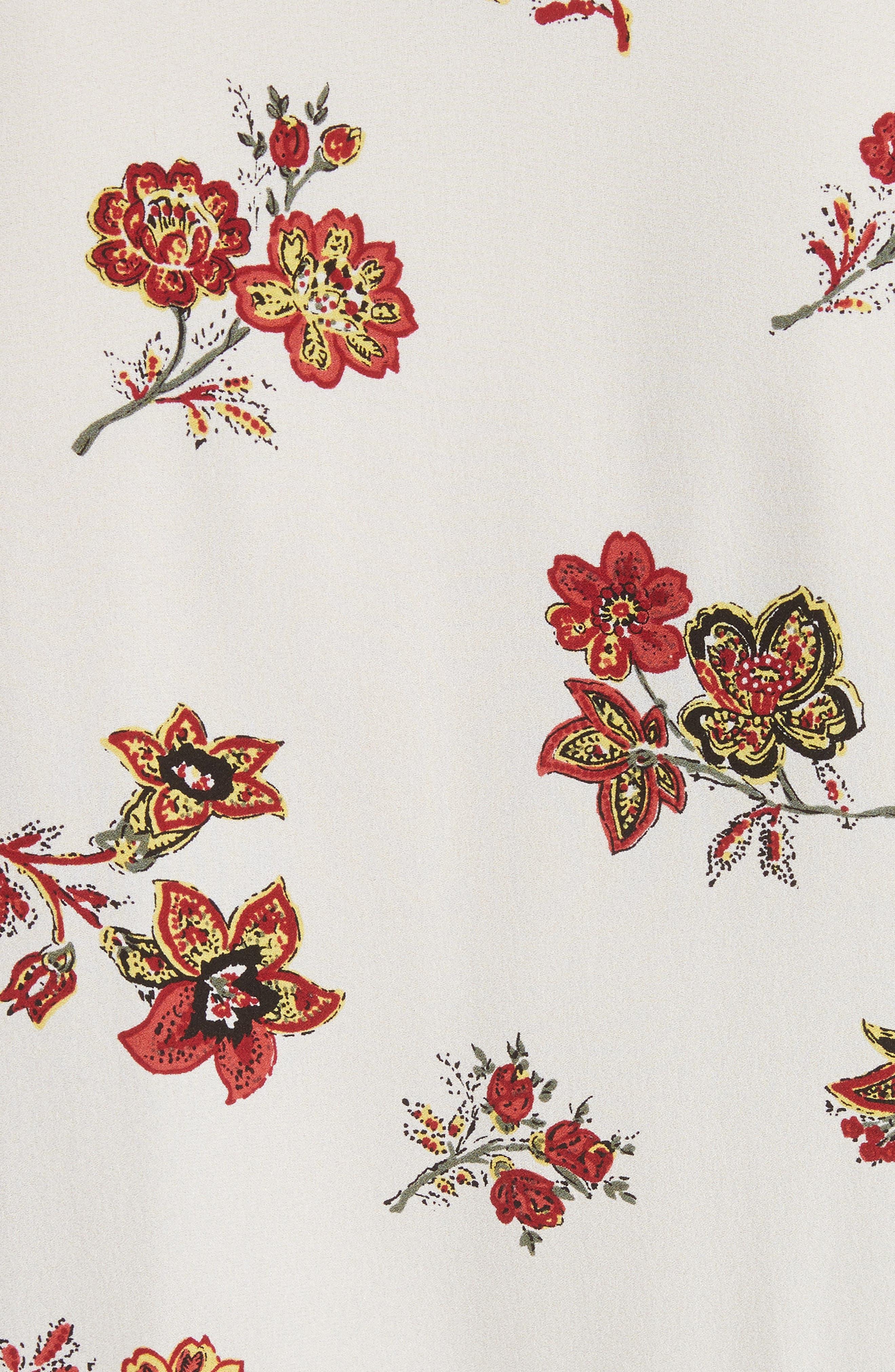 Rori Silk Drop Waist Dress,                             Alternate thumbnail 5, color,                             Eggshell