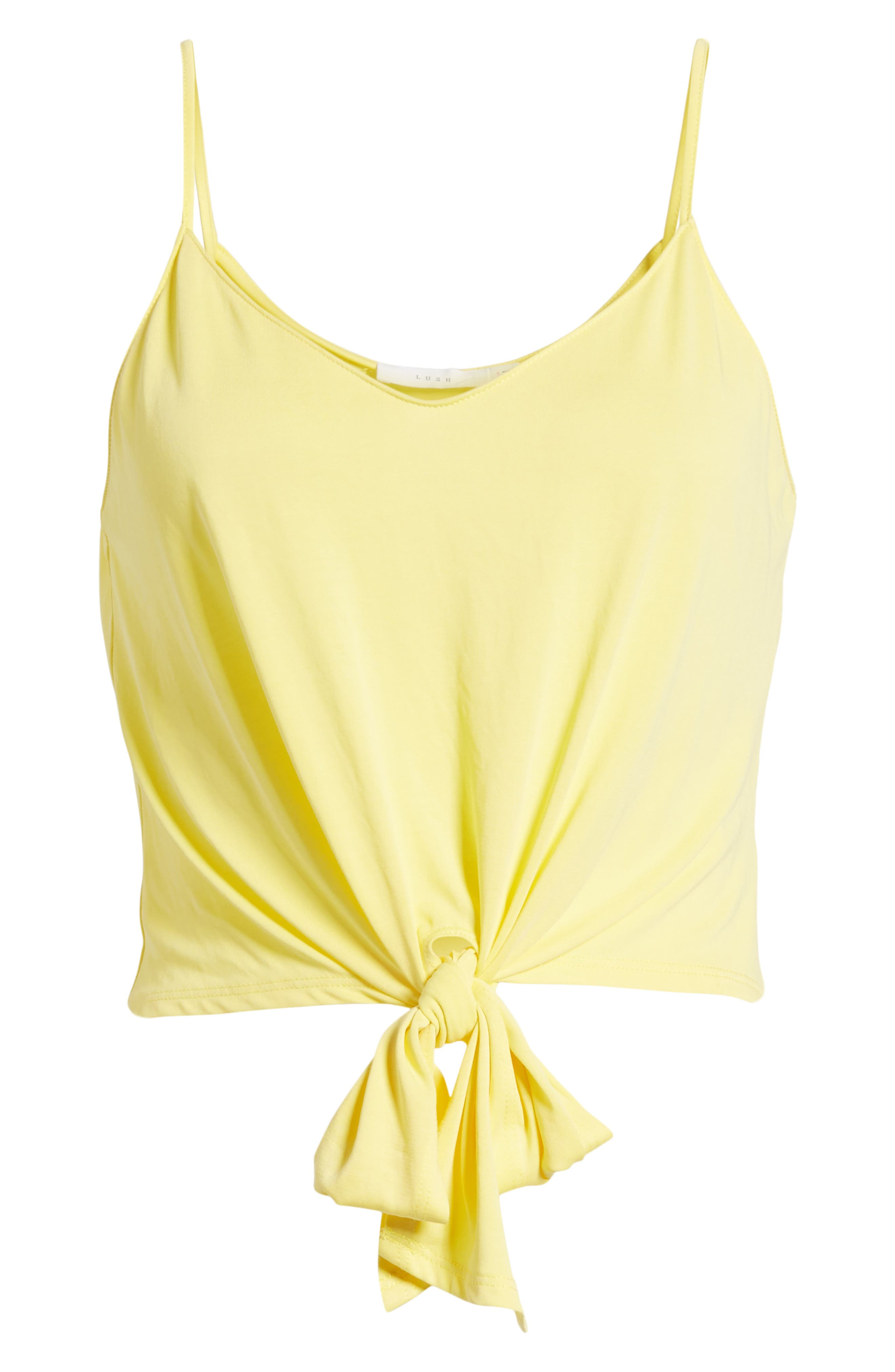 Tie Front Tank,                             Alternate thumbnail 7, color,                             Yellow