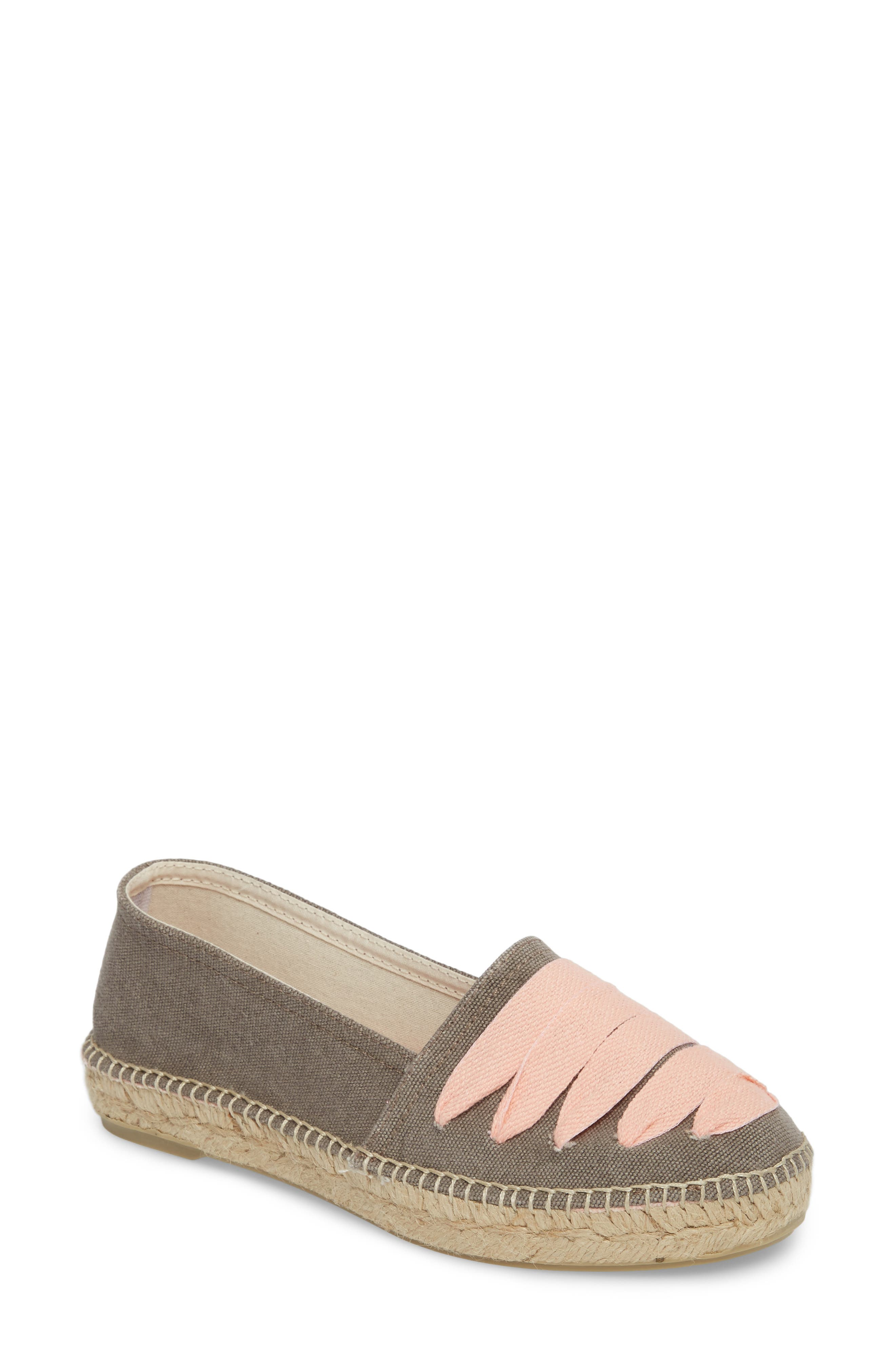 Rubi Espadrille Flat,                             Main thumbnail 1, color,                             Gris/ Rosa Fabric