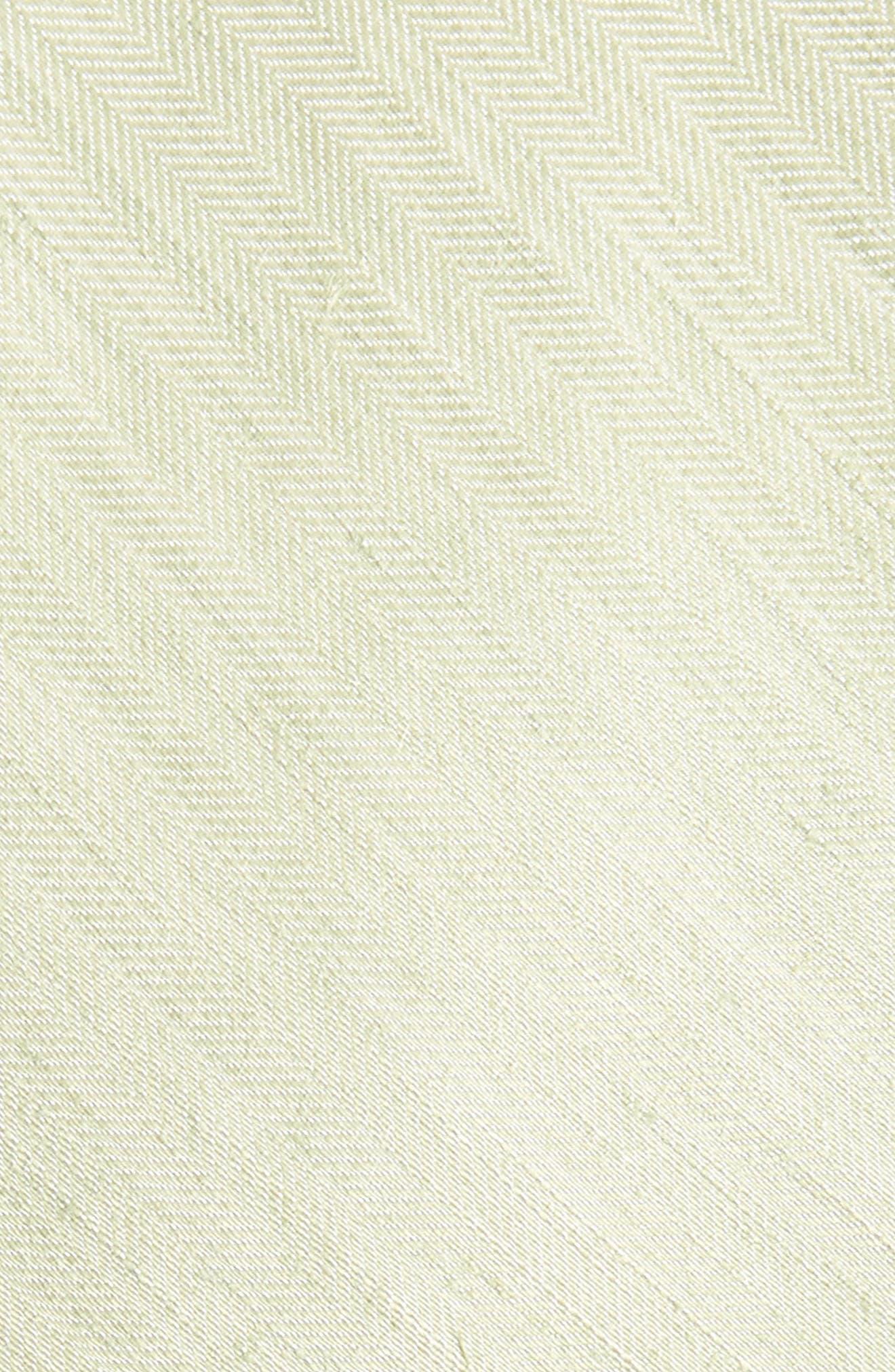 Linen Row Linen & Silk Tie,                             Alternate thumbnail 2, color,                             Sage Green