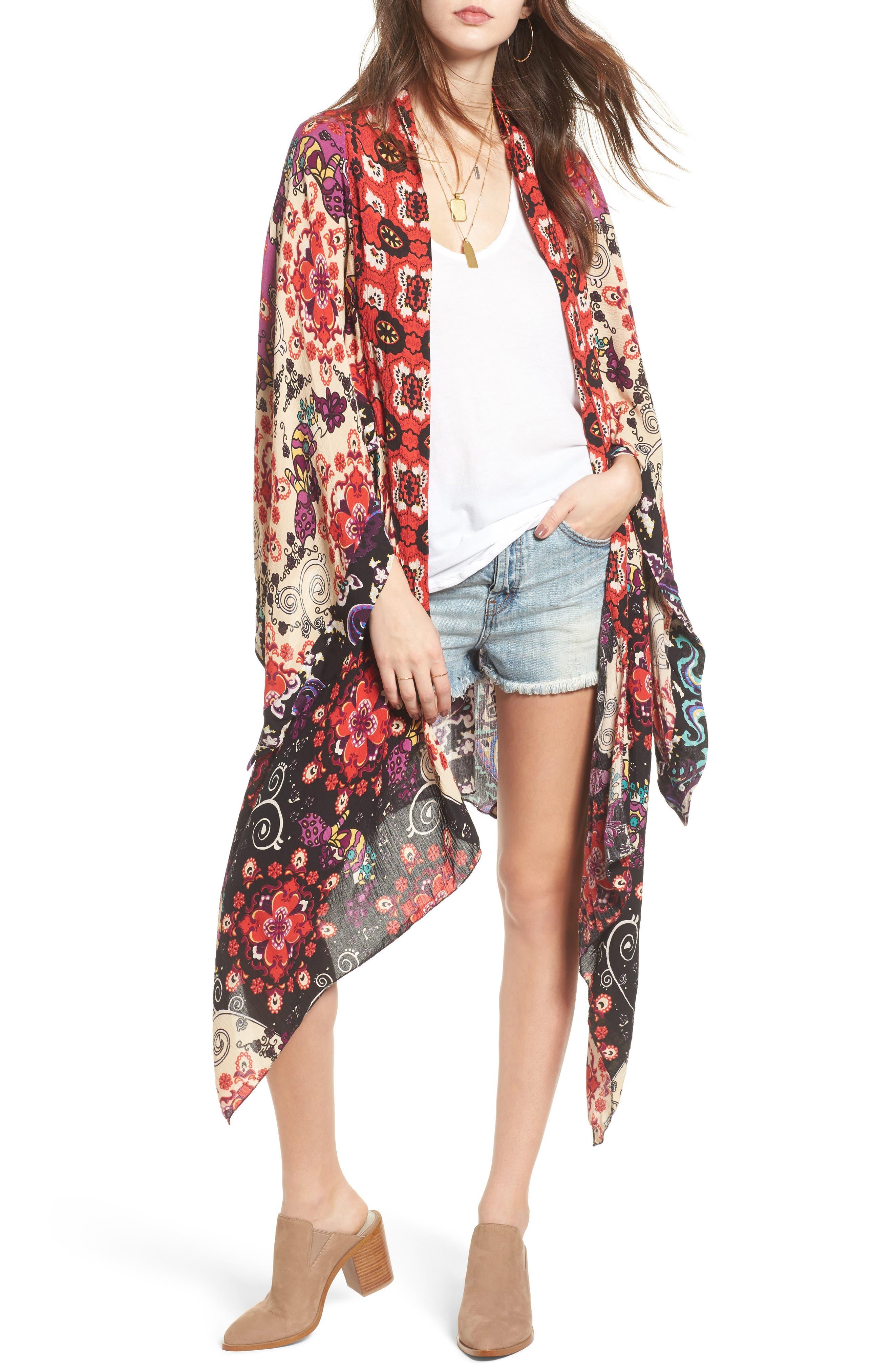 Little Wing Kimono,                             Main thumbnail 1, color,                             Plum Combo