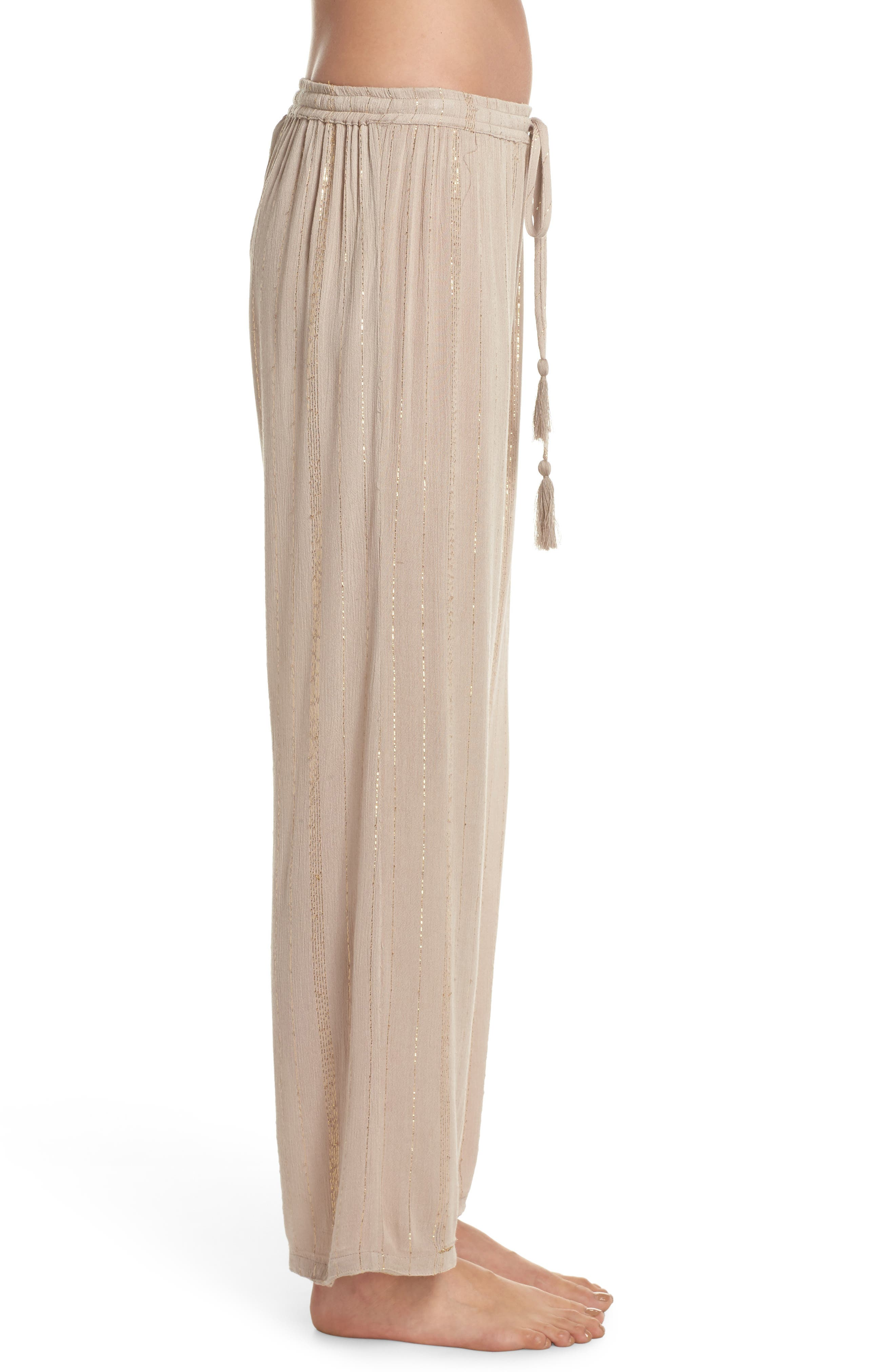 Iris Cover-Up Pants,                             Alternate thumbnail 3, color,                             Taupe/ Gold