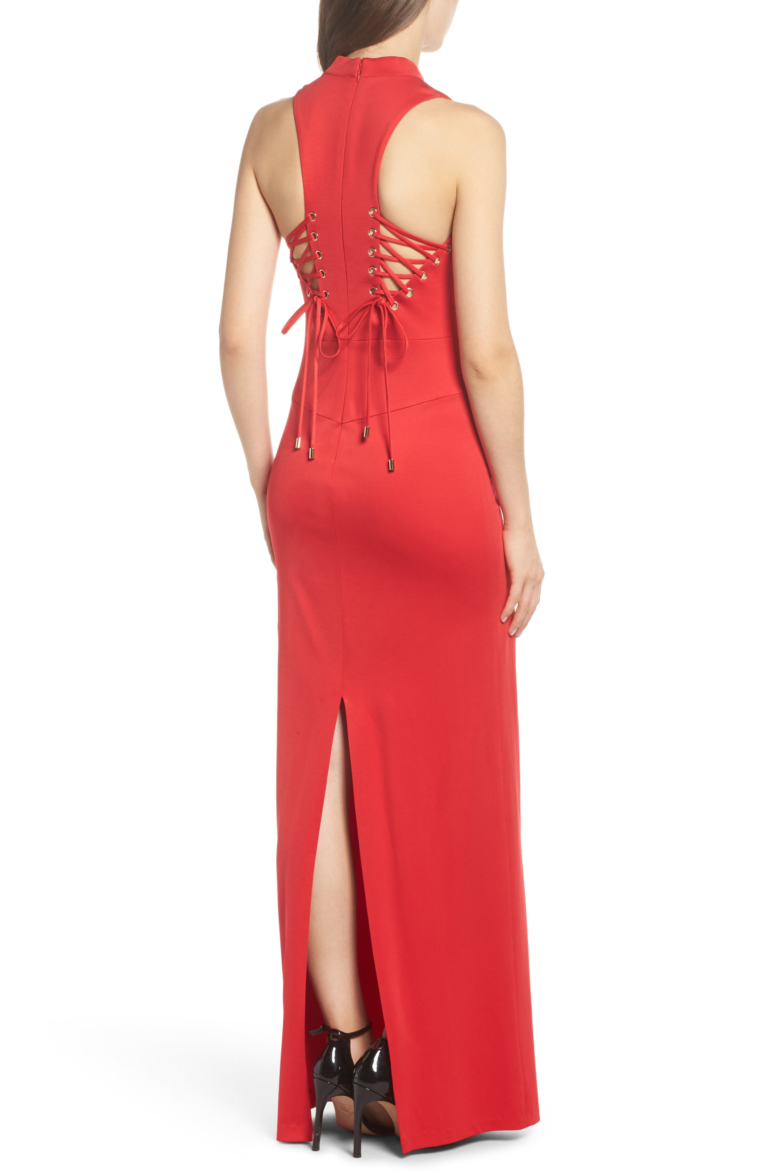 Alternate Image 2  - Adrianna Papell Lola Corset Back Jersey Gown