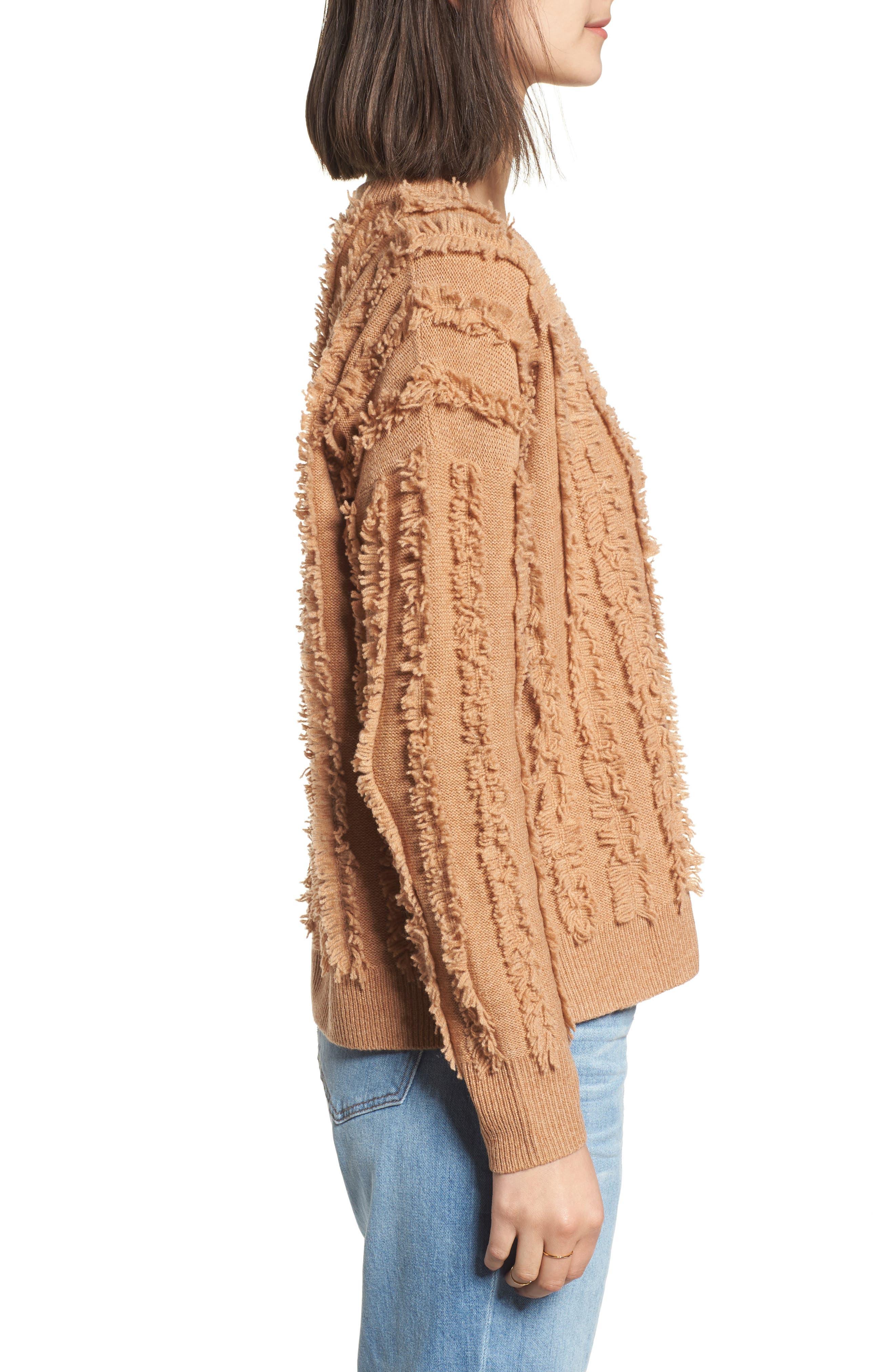 Alternate Image 3  - Madewell Fringe Stripe Pullover Sweater