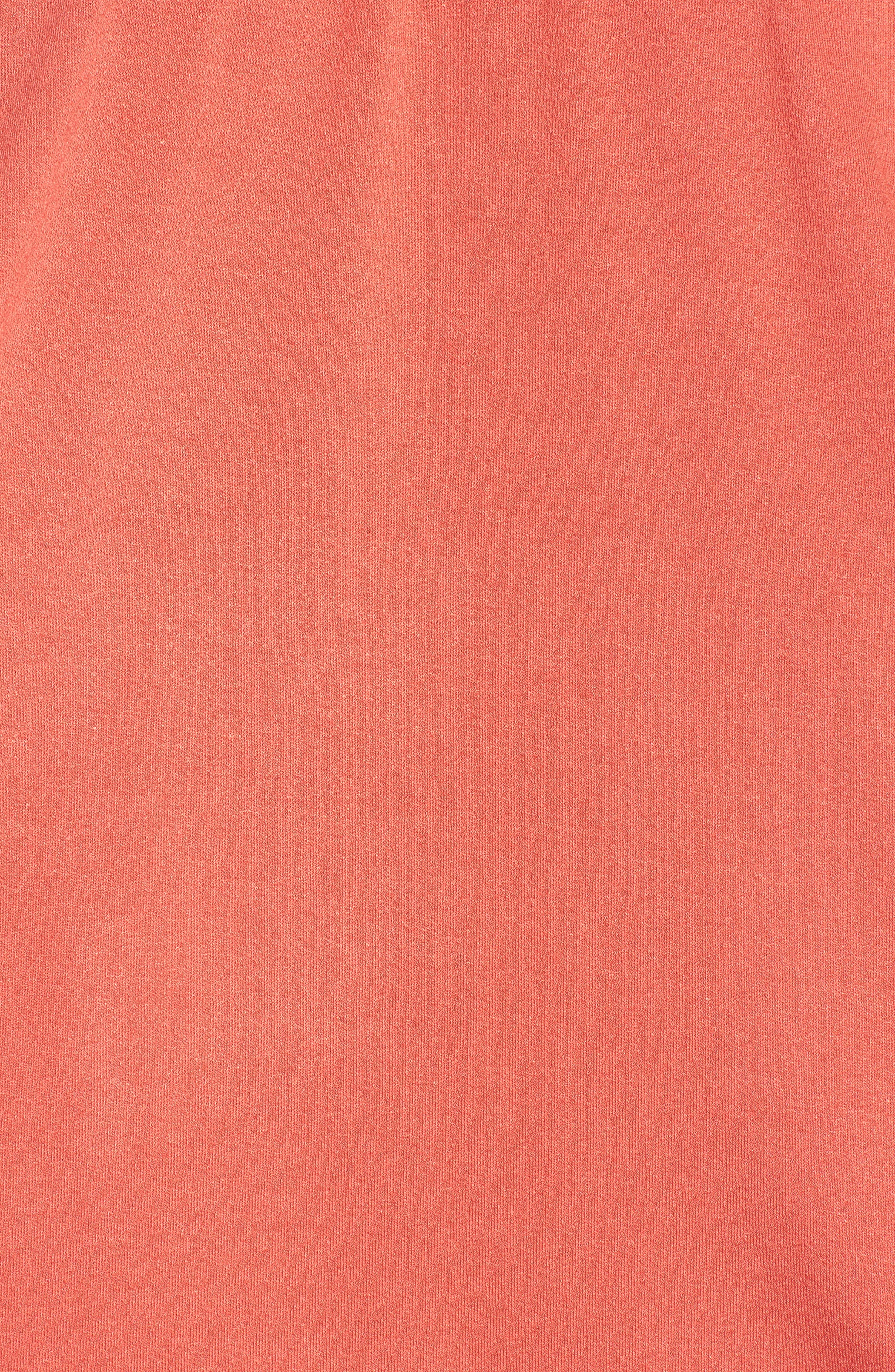 Off the Shoulder Top,                             Alternate thumbnail 5, color,                             Rust Sienna