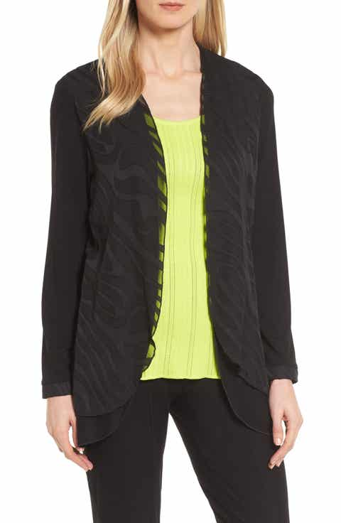 Ming Wang Sheer Layered Jacket On sale