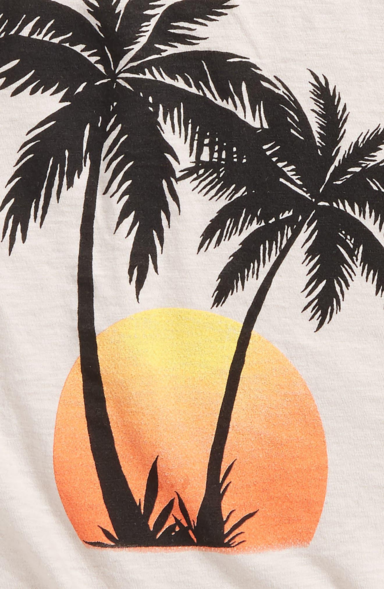 Alternate Image 2  - T2 Love Palm Tree Graphic Tee (Big Girls)