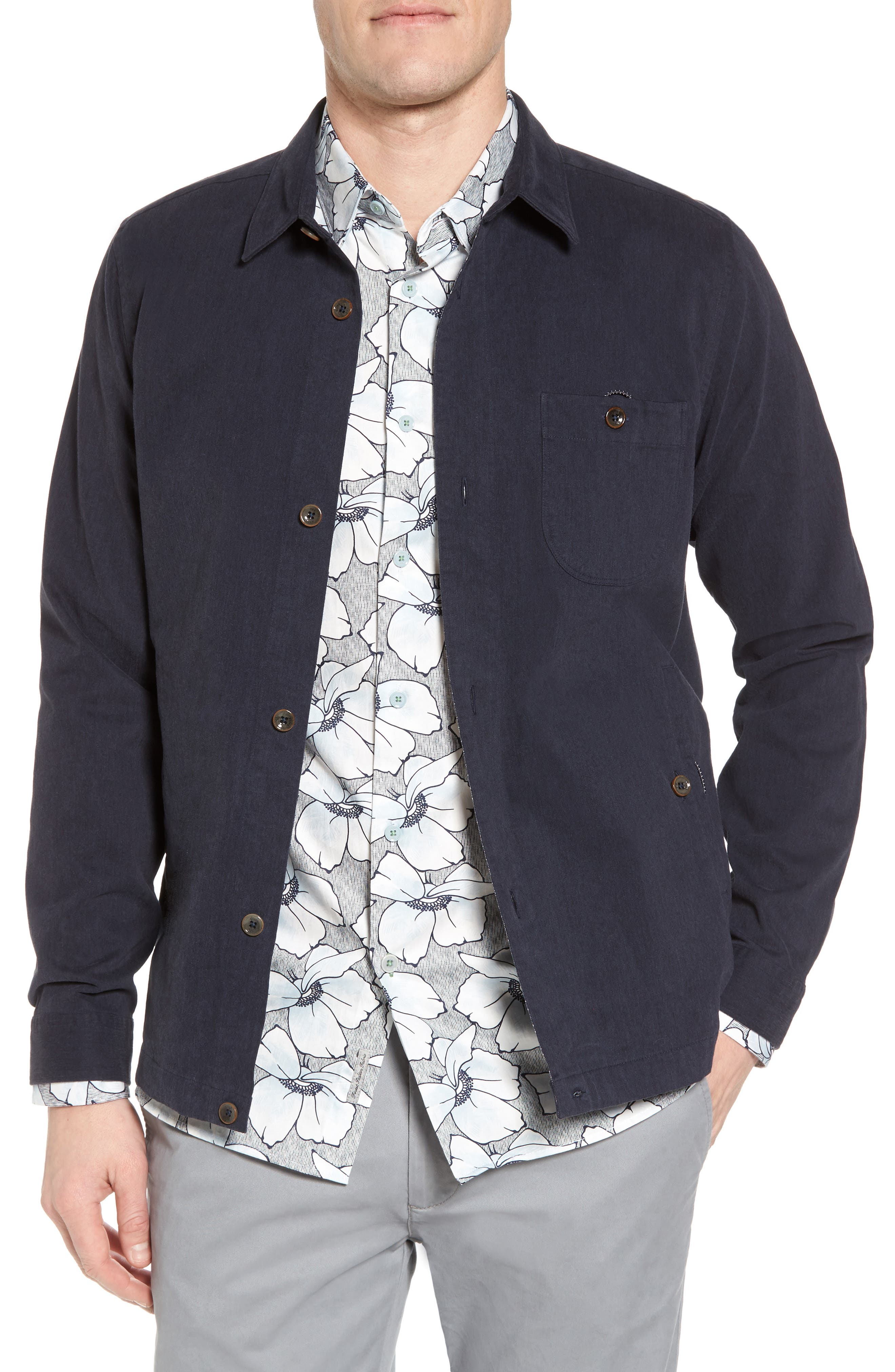 Keebord Shirt Jacket,                         Main,                         color, Navy