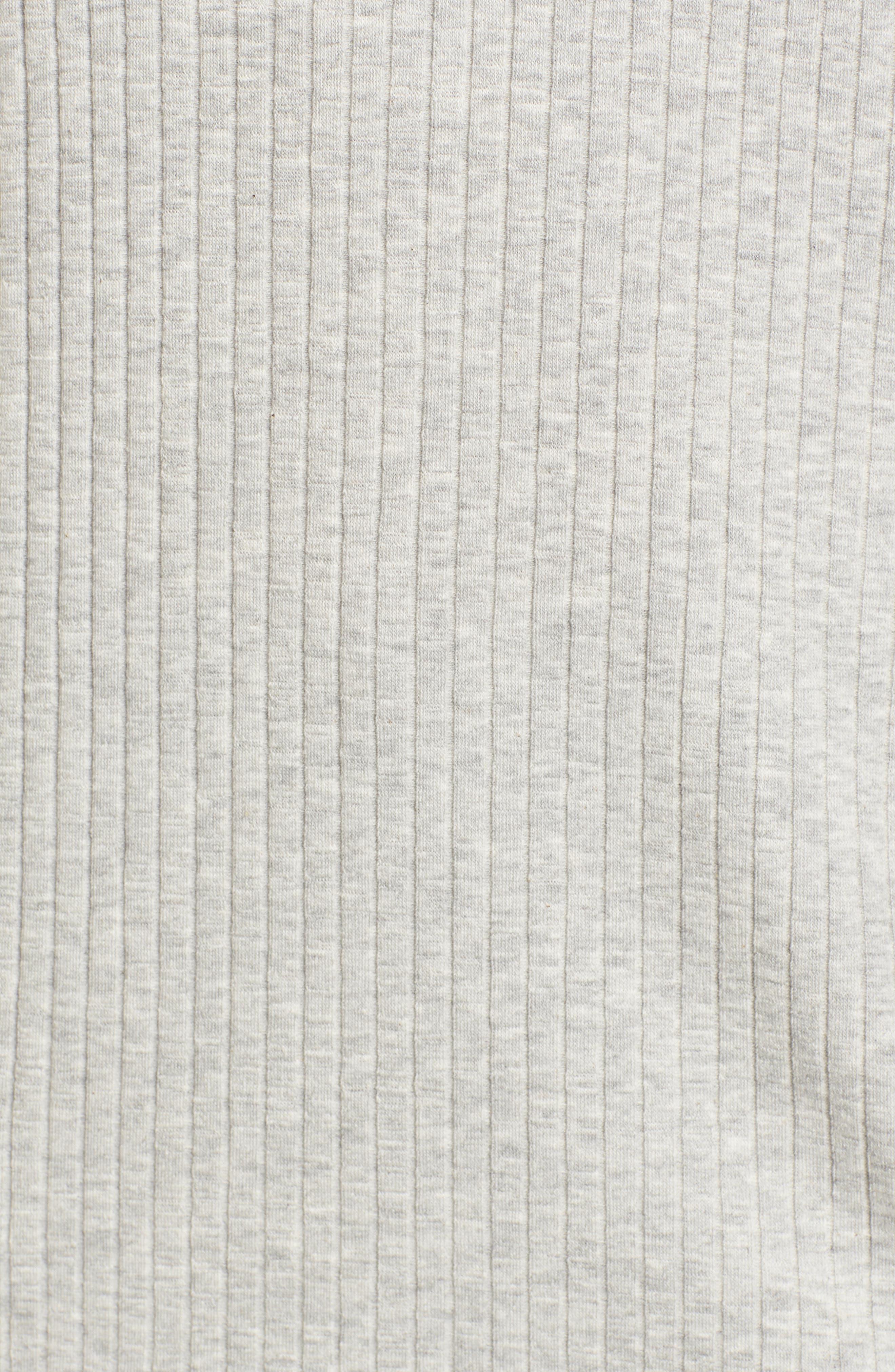 Hooded Rib Knit Tank,                             Alternate thumbnail 6, color,                             Grey Marl