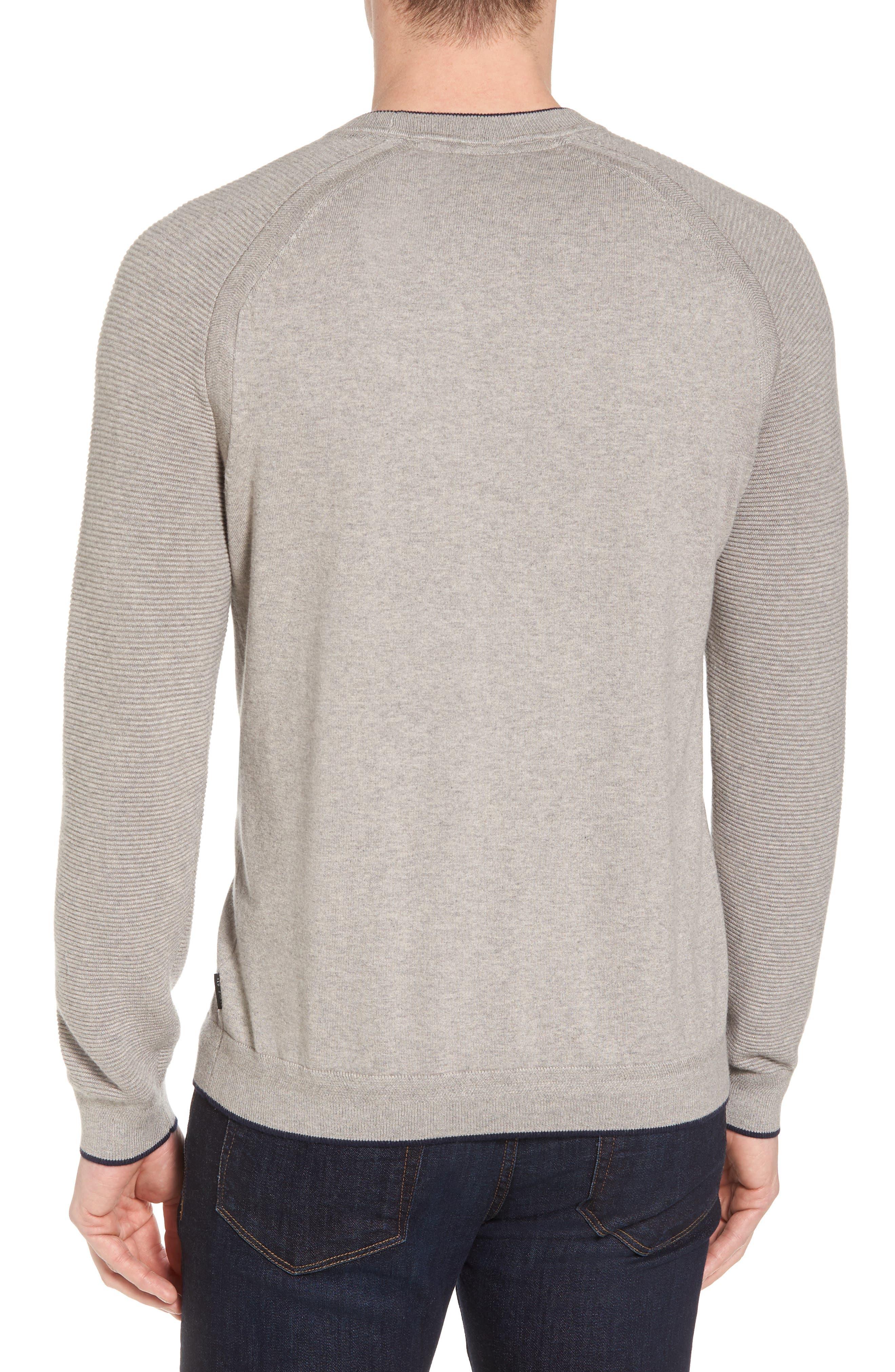 Kayfed Rib Sleeve Sweater,                             Alternate thumbnail 2, color,                             Grey Marl