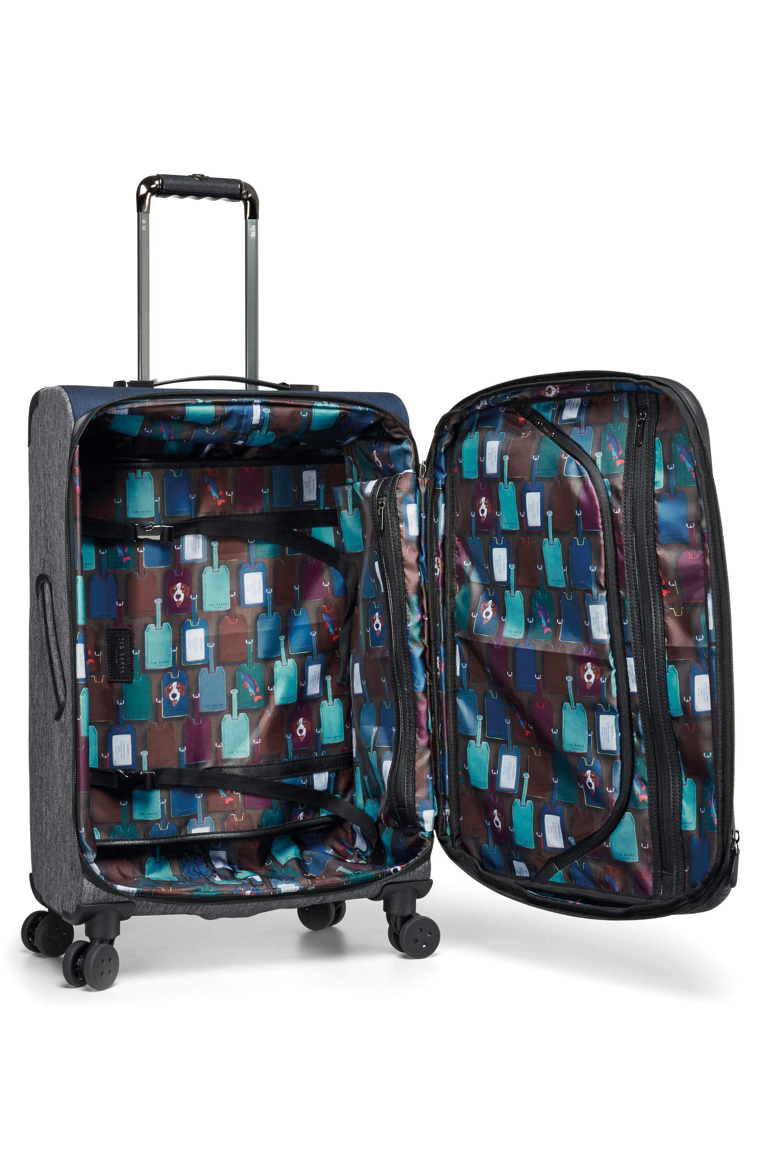 Brunswick 27-Inch Rolling Suitcase,                             Alternate thumbnail 4, color,                             Grey