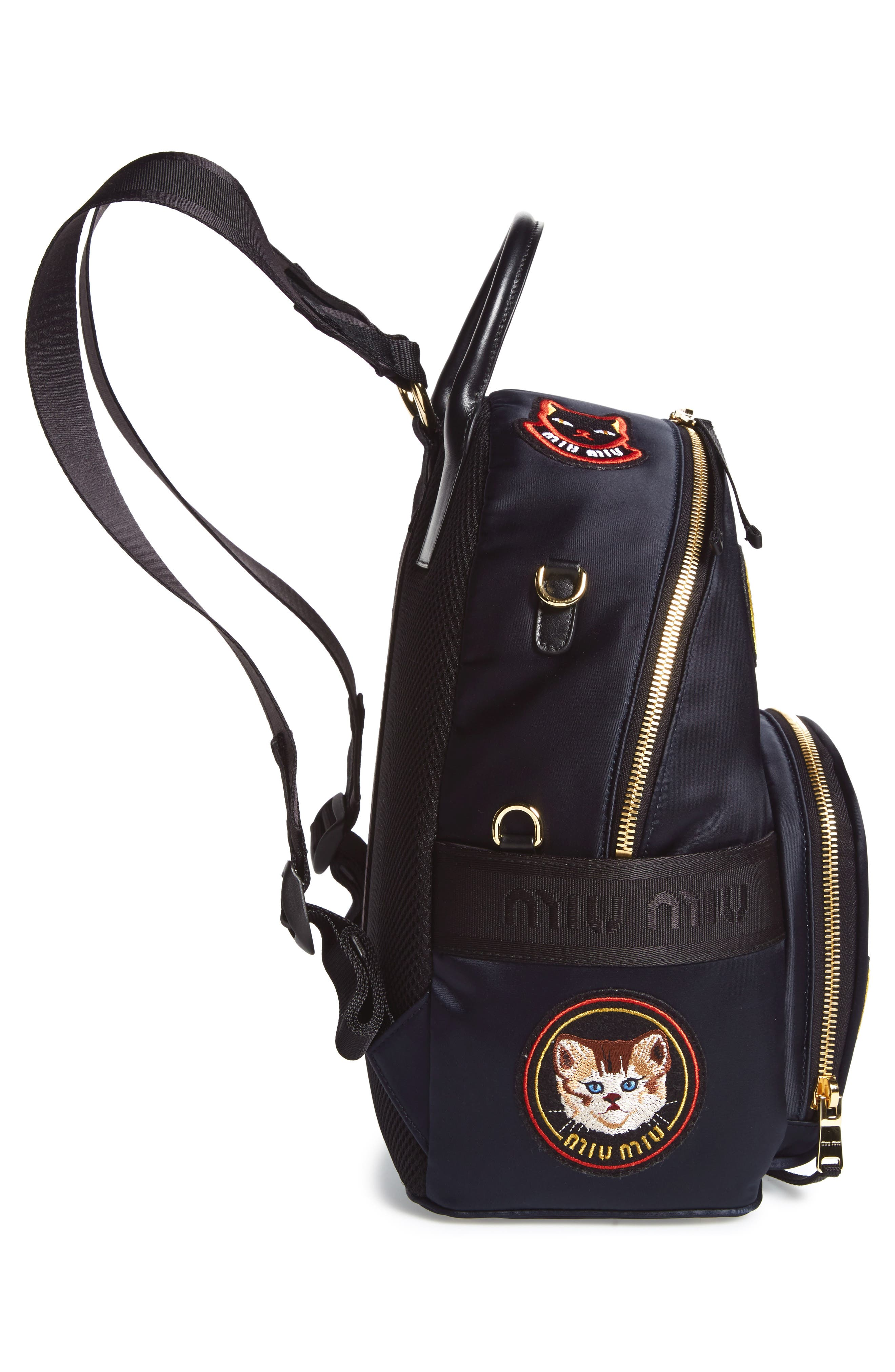 Patch Backpack,                             Alternate thumbnail 4, color,                             Navy