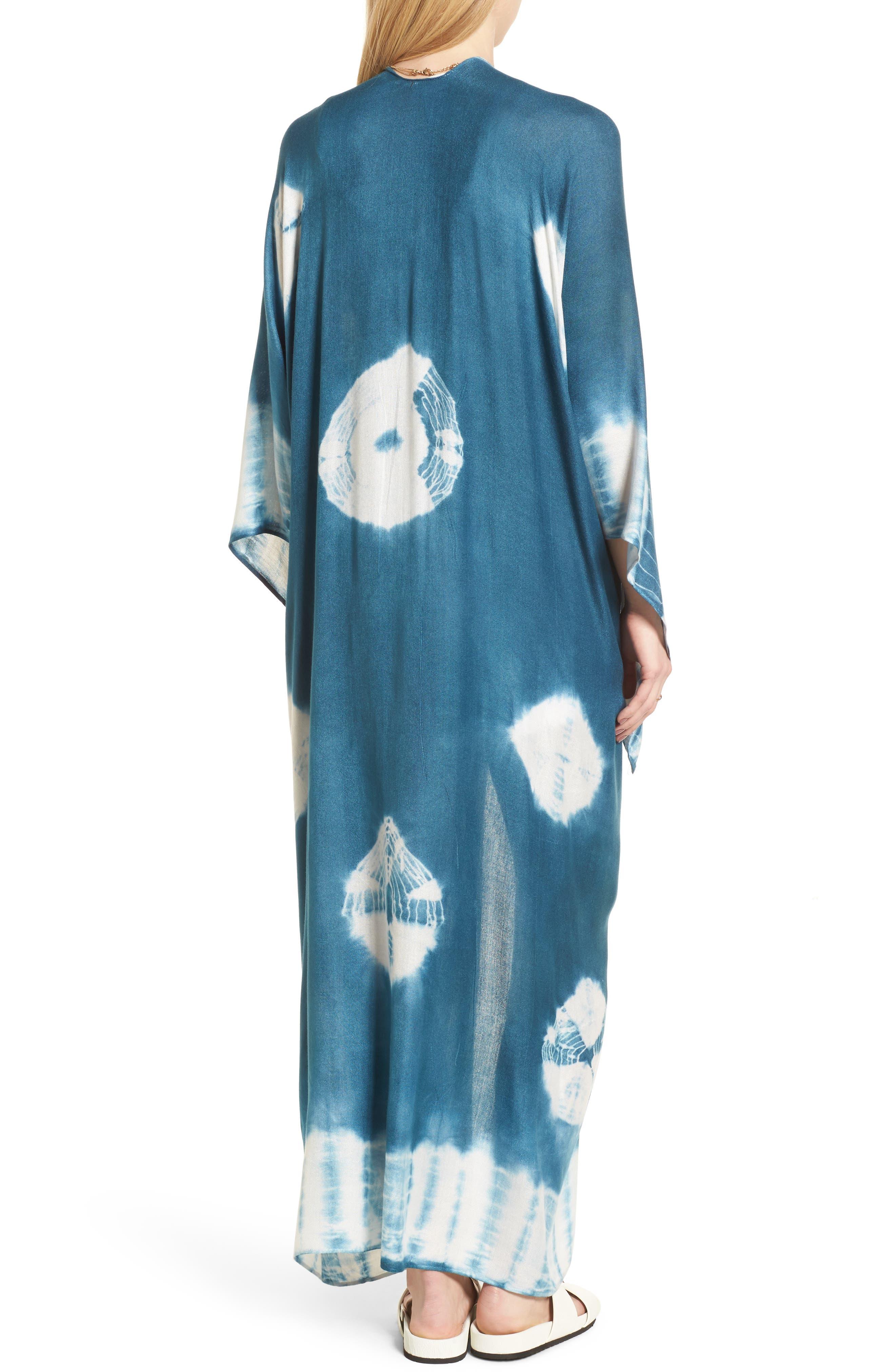Spellbound Tie Dye Kimono Duster,                             Alternate thumbnail 2, color,                             Ocean
