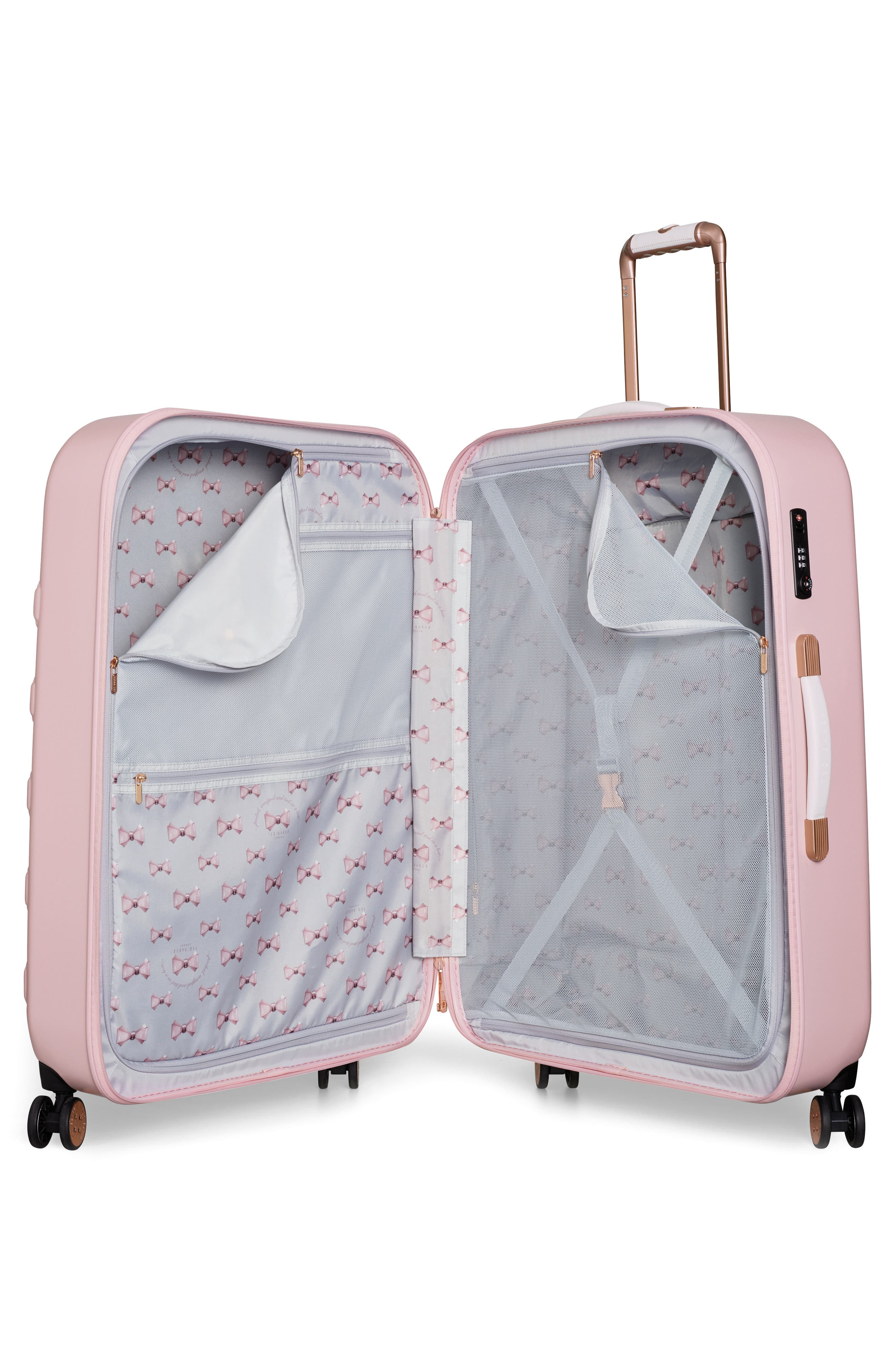 Alternate Image 2  - Ted Baker London Large Beau Bow Embossed Four-Wheel 31-Inch Trolley Suitcase