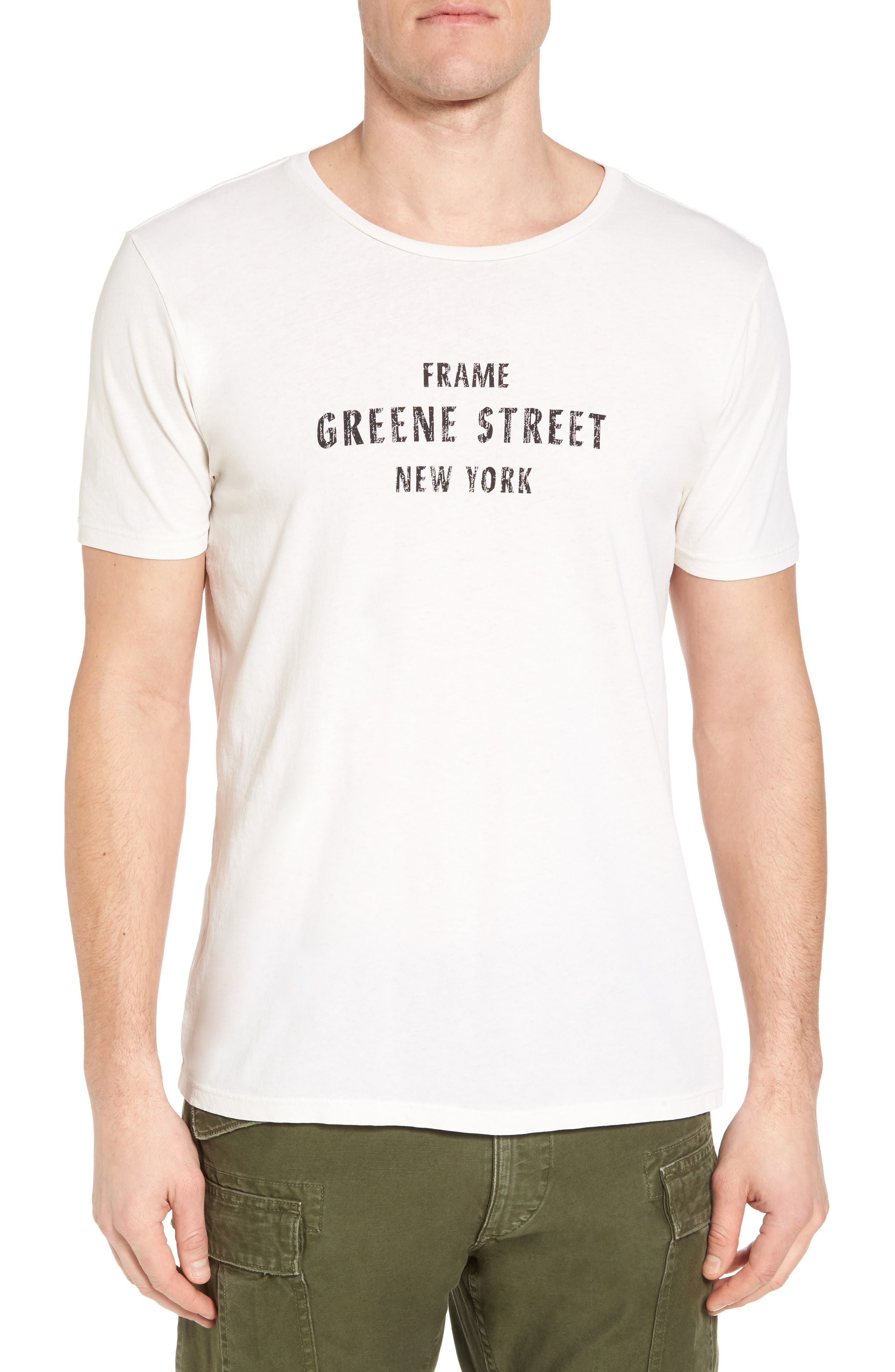 Greene Street Vintage Graphic T-Shirt,                         Main,                         color, Off White