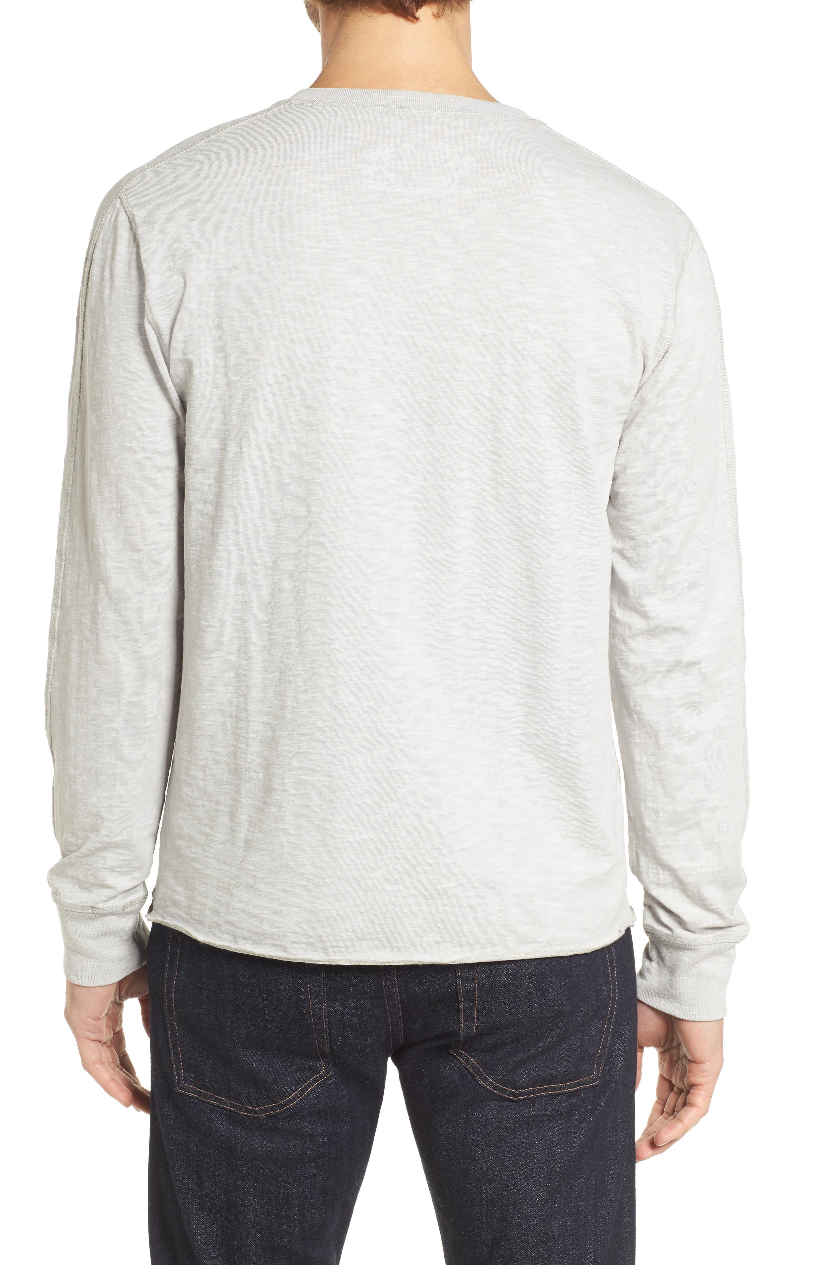 Cooper Slub Long Sleeve Henley,                             Alternate thumbnail 2, color,                             High Rise Grey